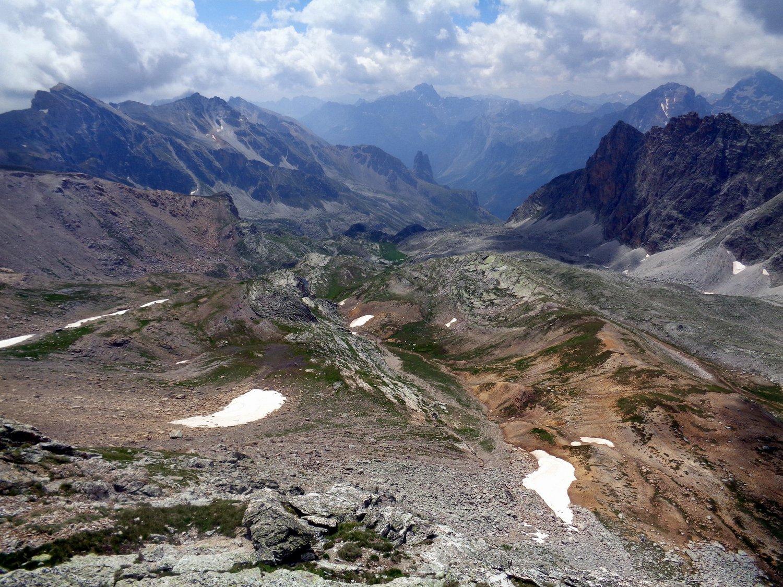 valle di Ciabriera dall'alto