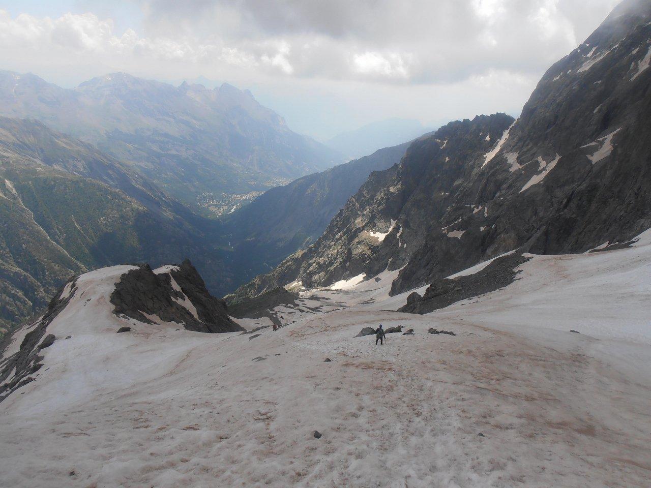 09 - parte alta del Nevaio Pellissier, verso la quarta calata