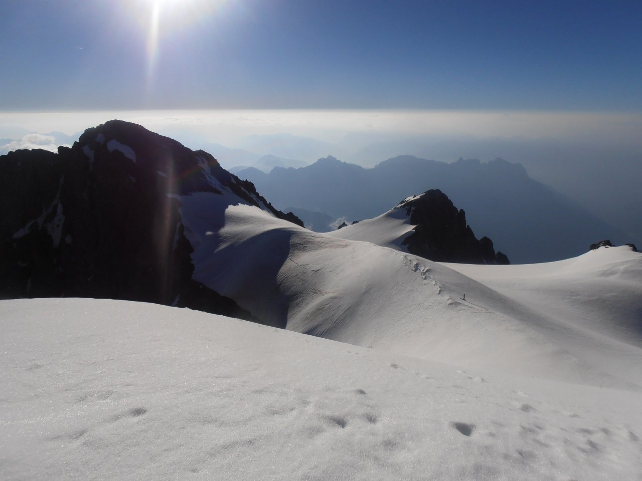 01 - dalla cima del Pelvoux l'omonimo ghiacciaio di vetta