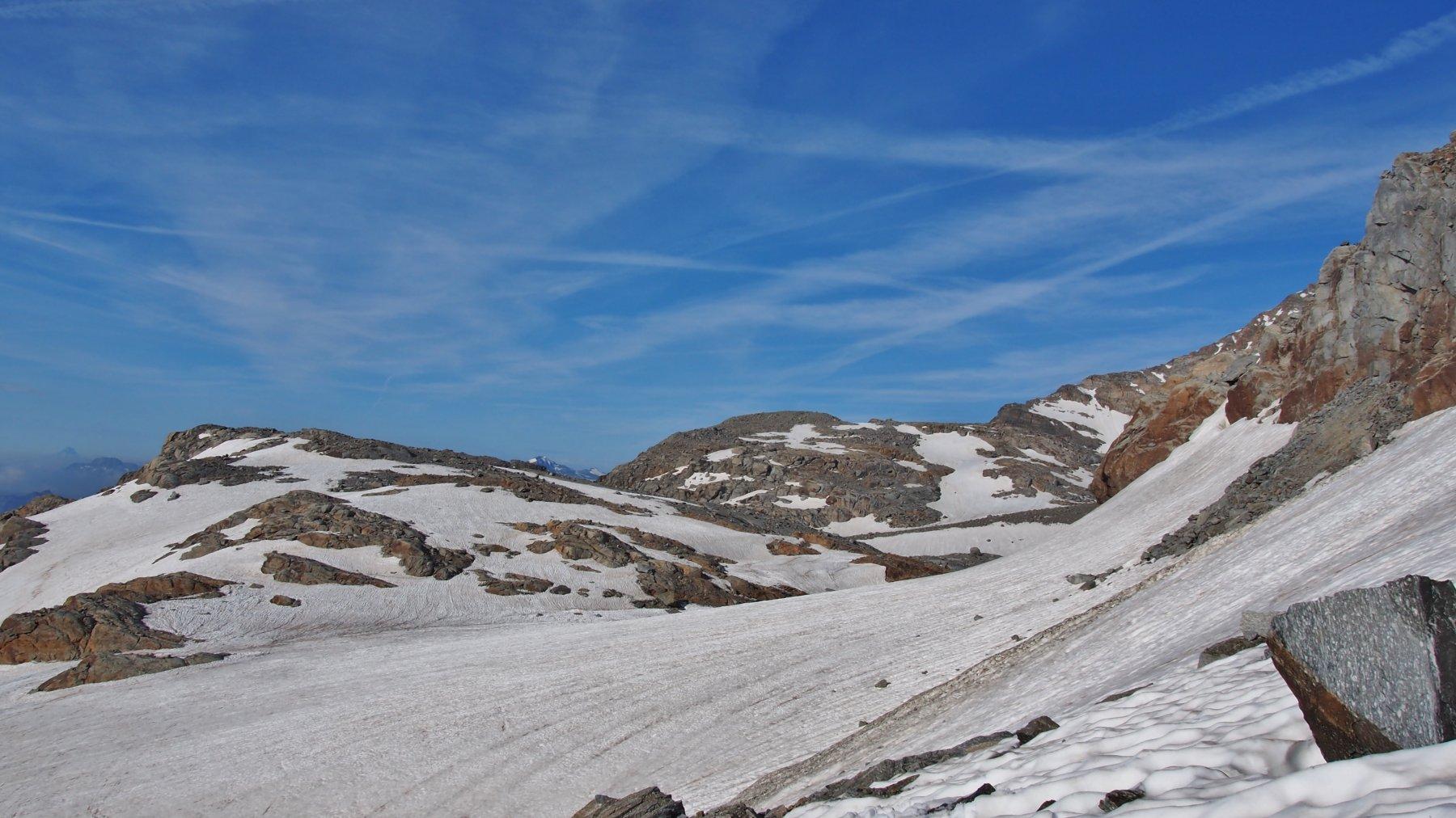 il ghiacciaio di Noaschetta verso il colle GP