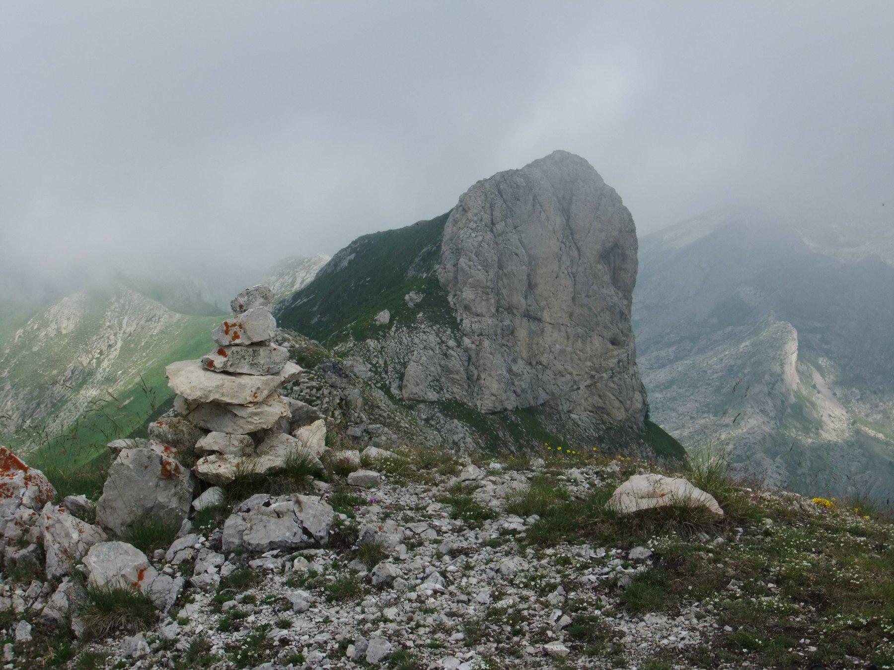 Sulla Rocca Ferà con il Ferà sullo sfondo