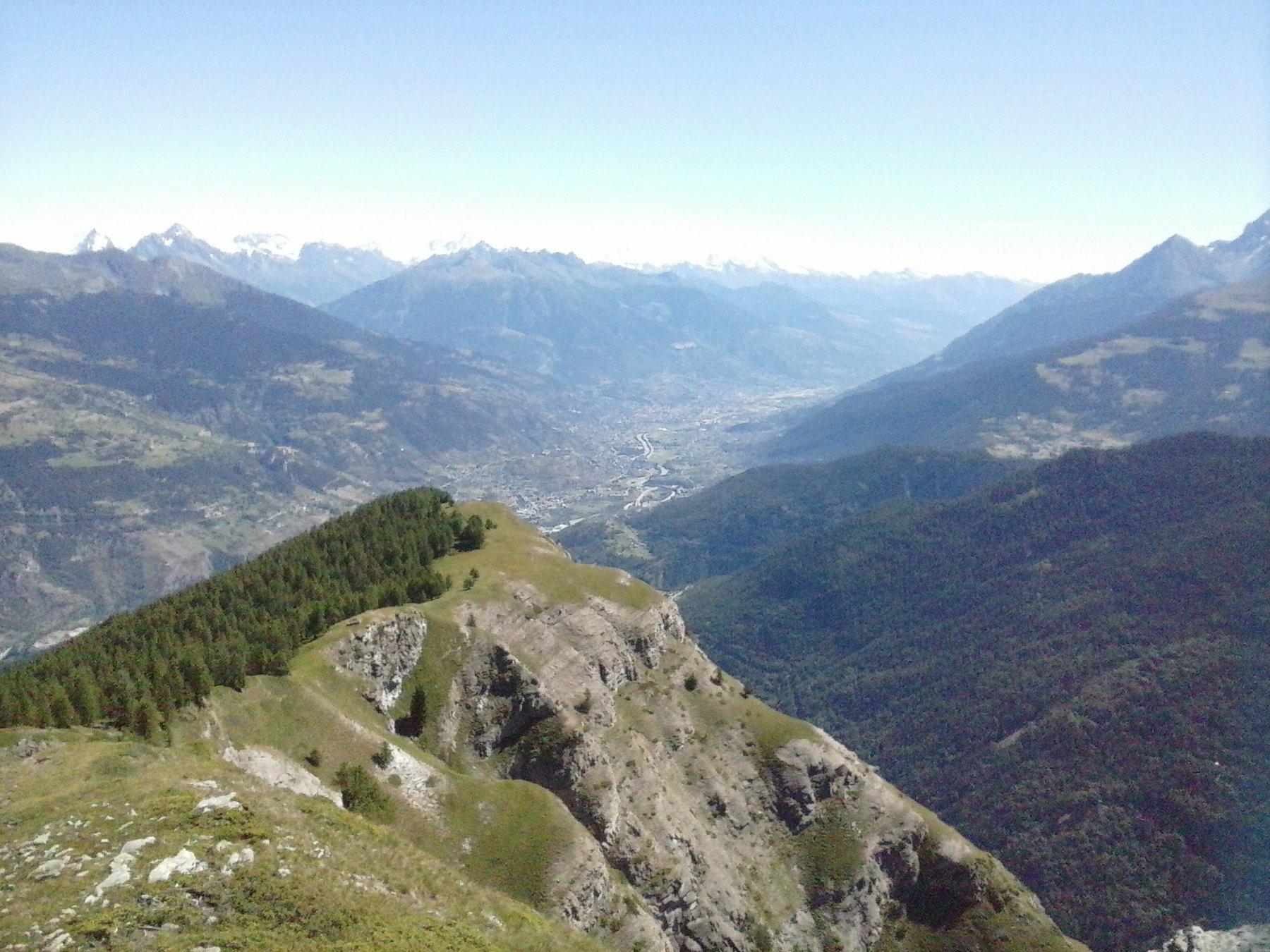 panorama su Plan Cou  e valle centrale dal Mont de l'Ane..