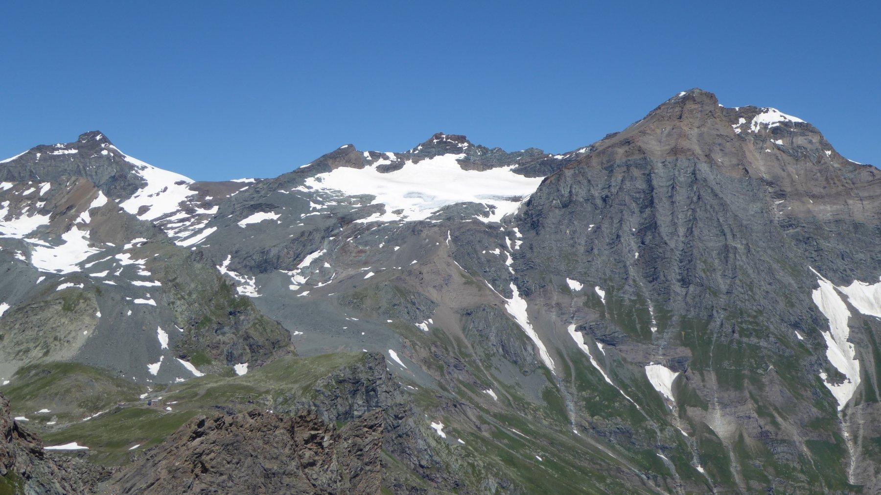 Quel che rimane dei ghiacciai della Ciamarella