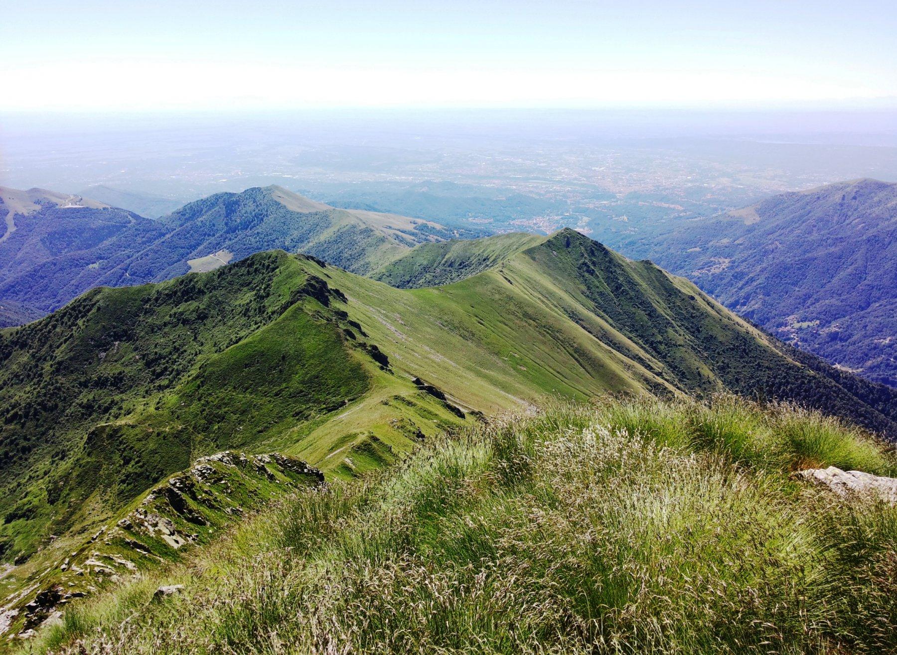 Cima delle Guardie, Bassa della Cavallina e la prima facile cresta
