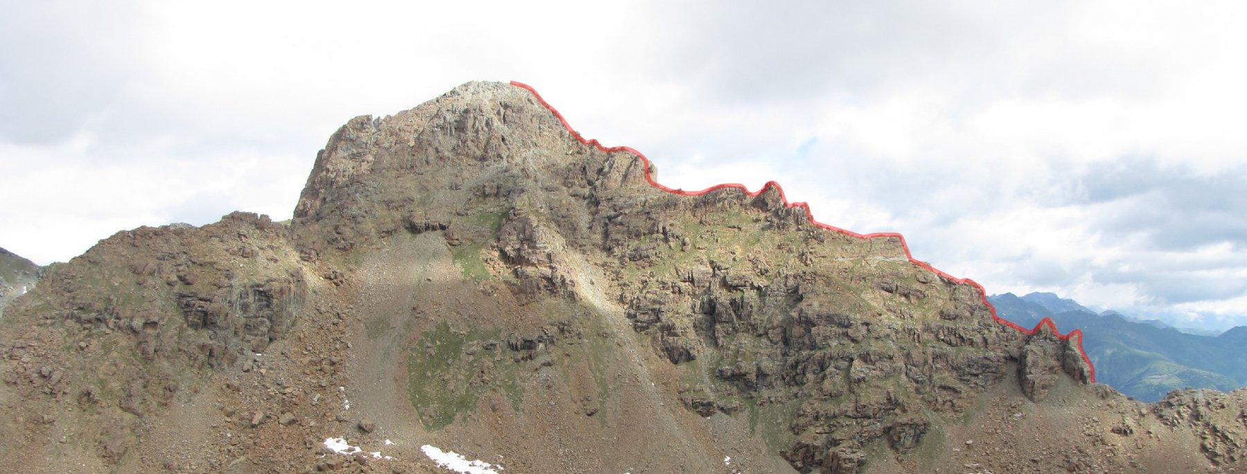 la cresta vista dalla costa glantin del rocciavrè