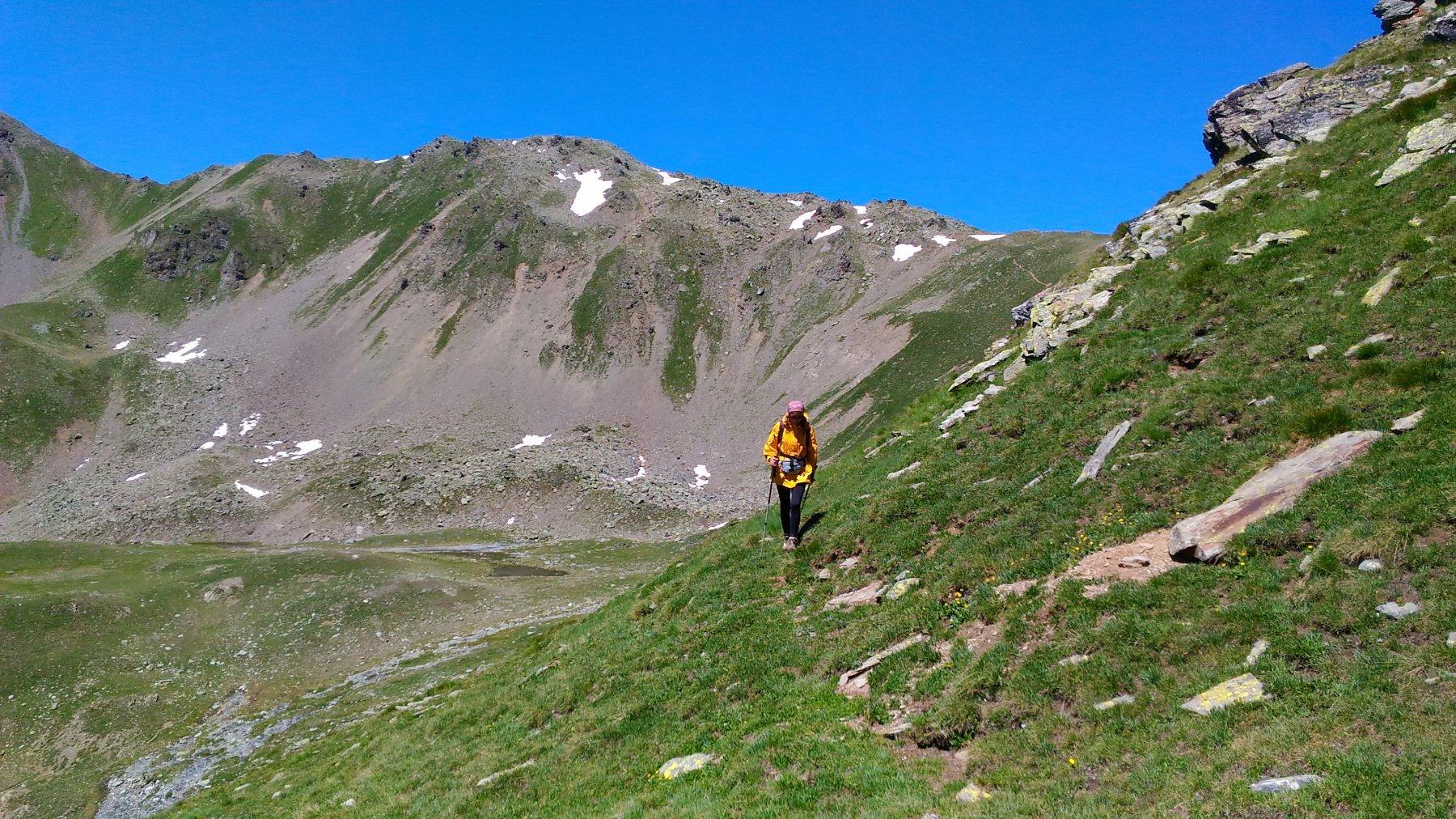 il traverso dal Vertosan verso la cresta N del Fallere