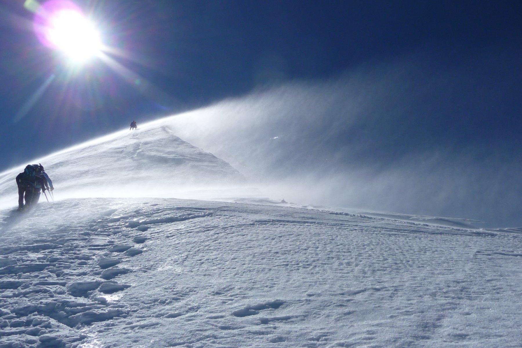 vento sulla cresta(foto Riccardo)