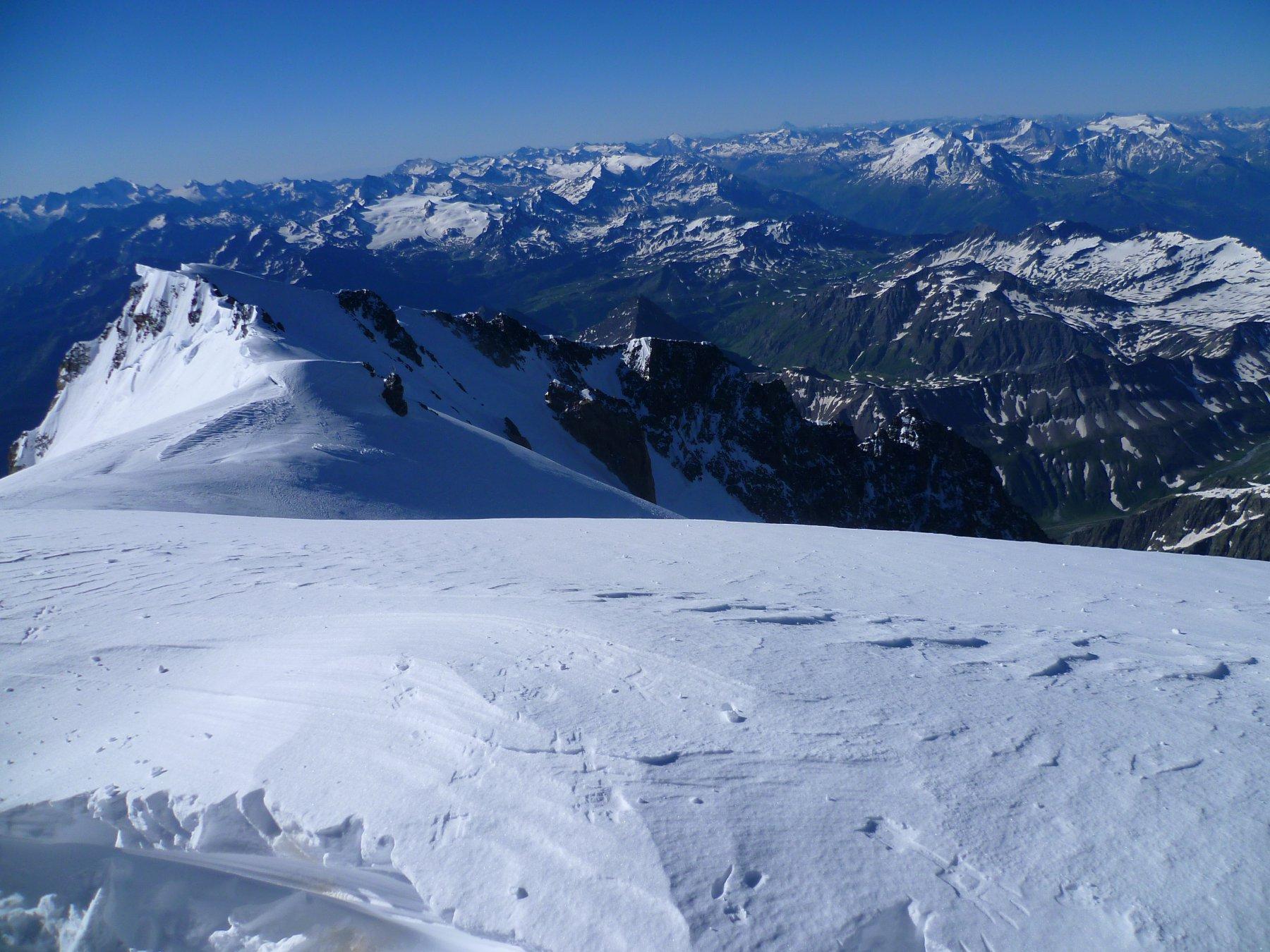 Dalla cima del Monte Bianco