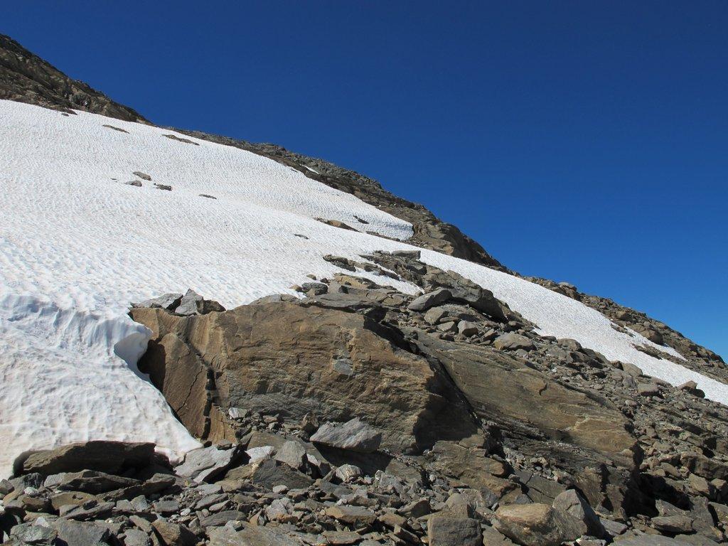 L'attraversamento del primo nevaio