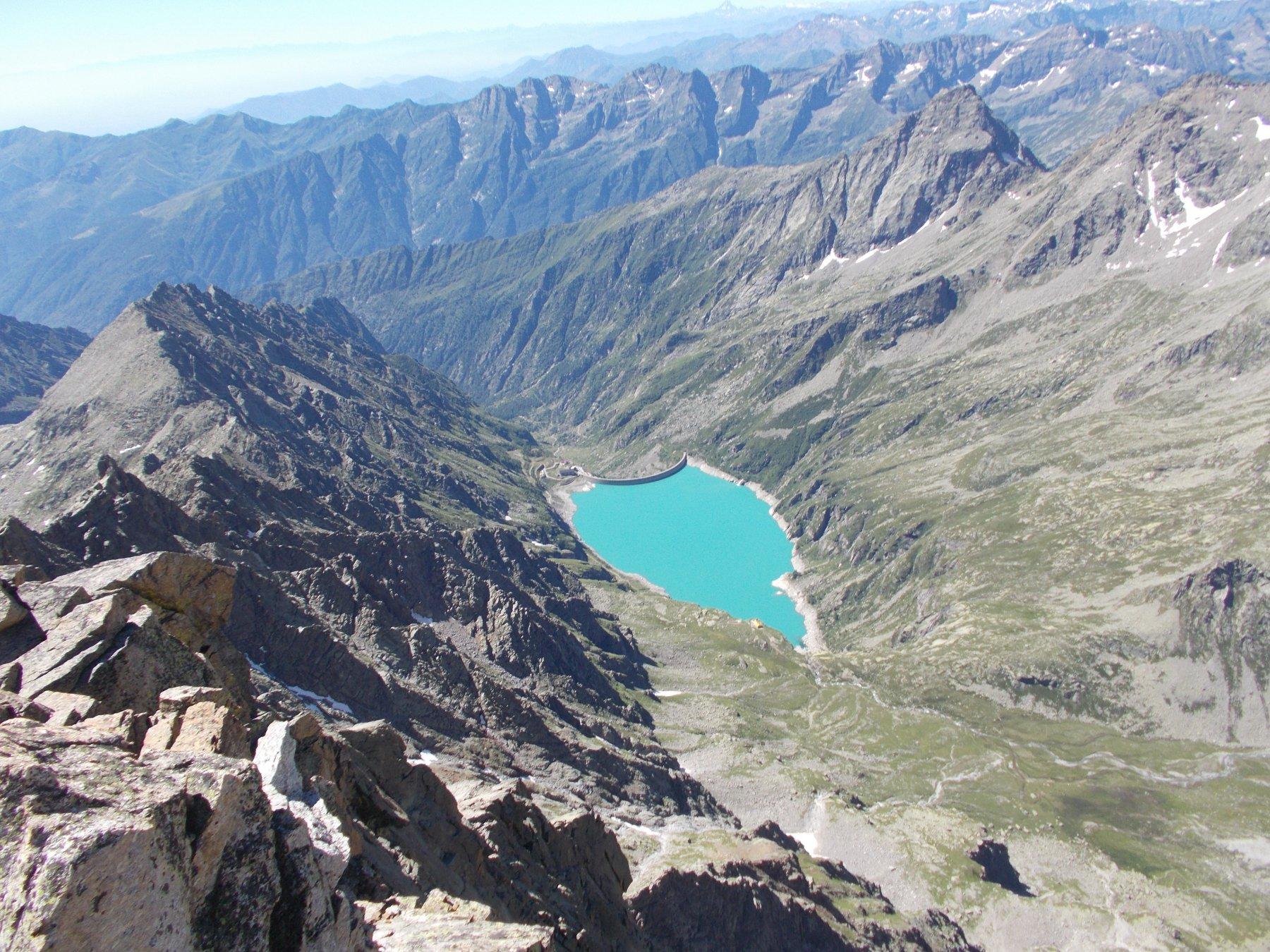 Il Lago di Teleccio dal Becco di Valsoera..