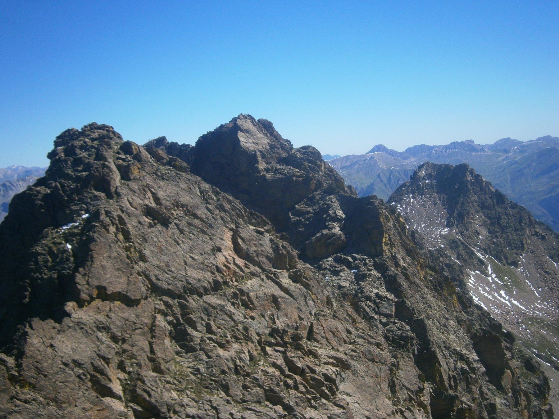 Cima Burnat, rocca Brossè e becco alto del Piz