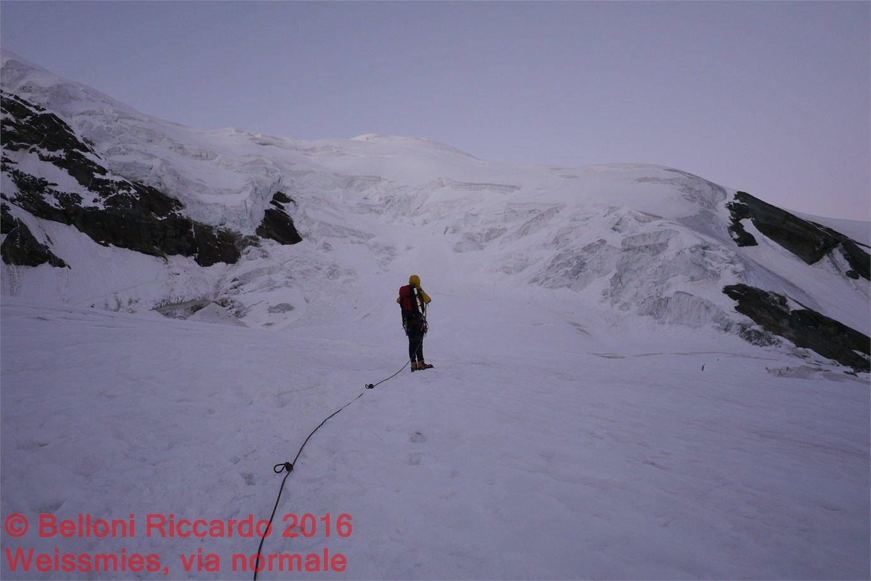 P1090039 io sul Triftgletscher verso i seracchi