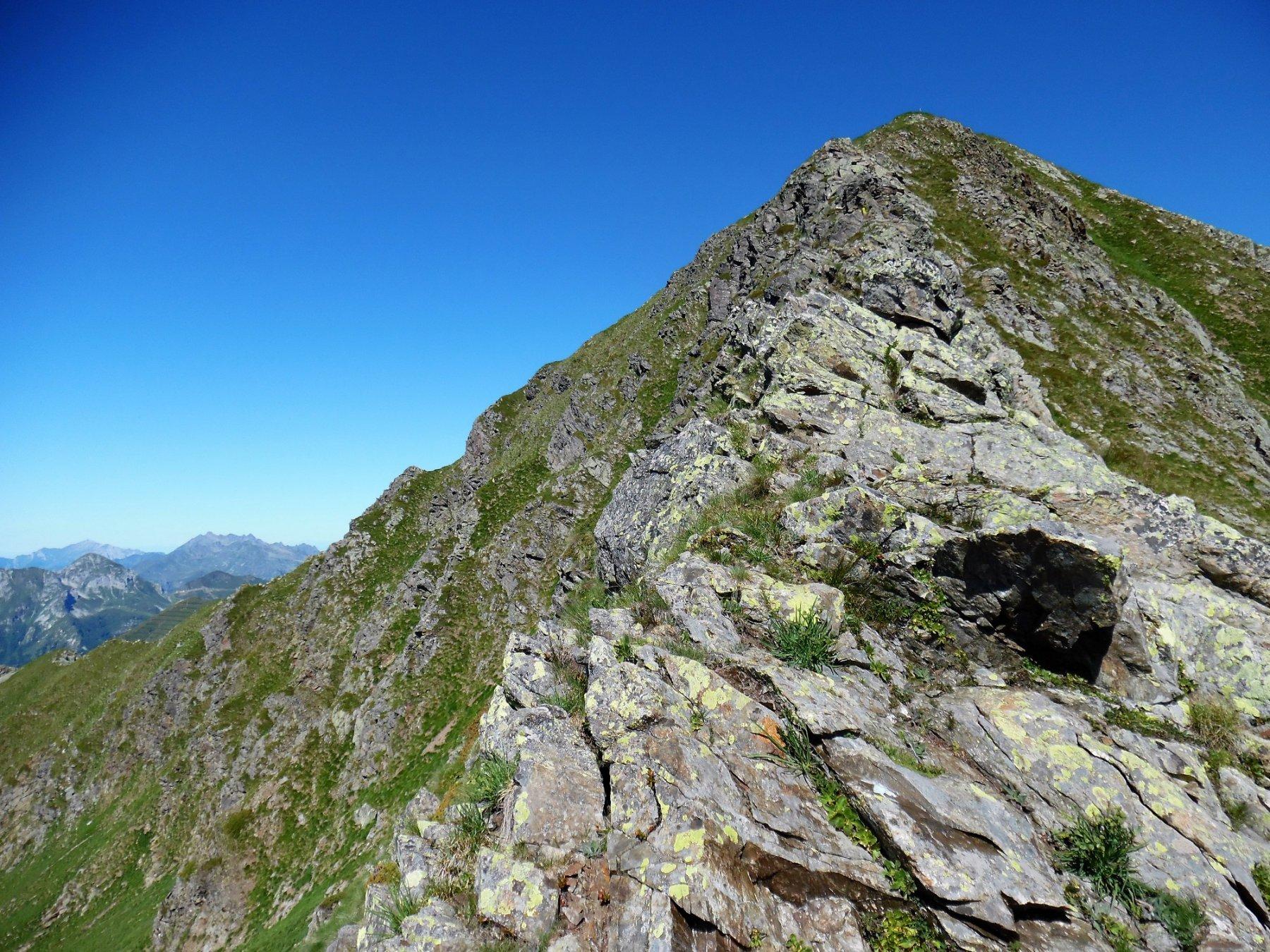 Cresta sud-est, verso la cima