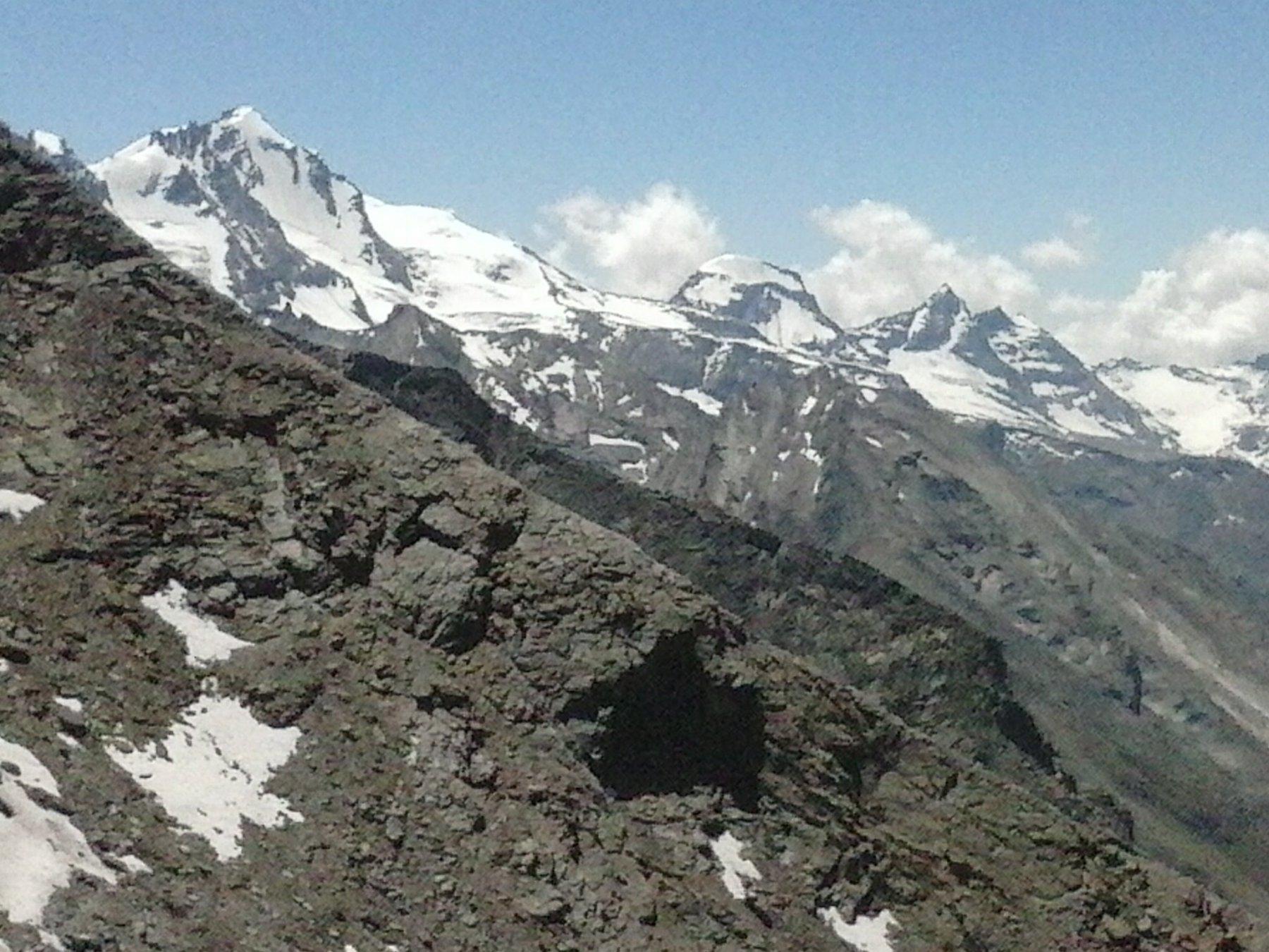 panorama verso il Grampa ,Ciarforon e Monciair..