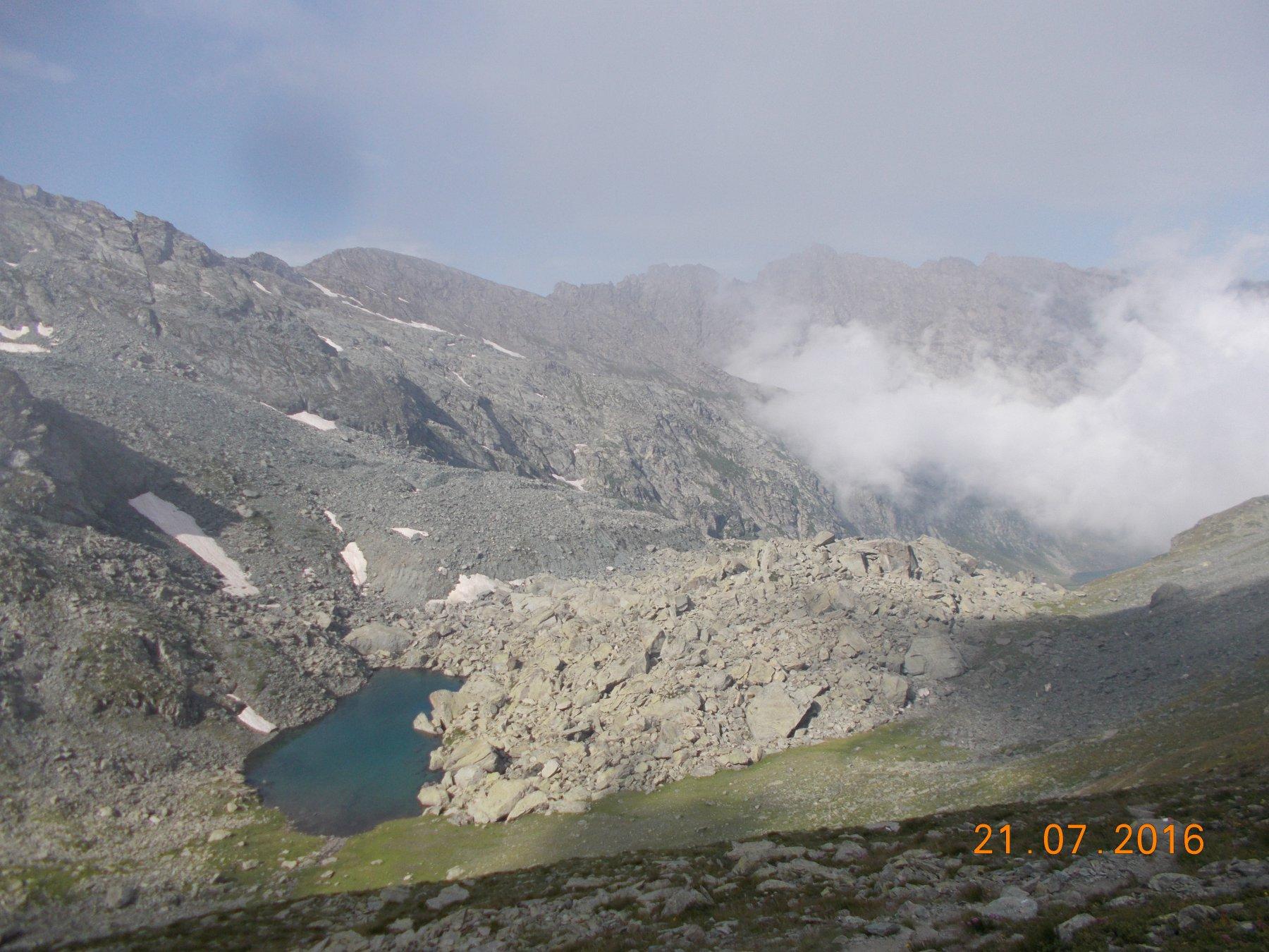 Il Lago Gelato dal Col Manzol.