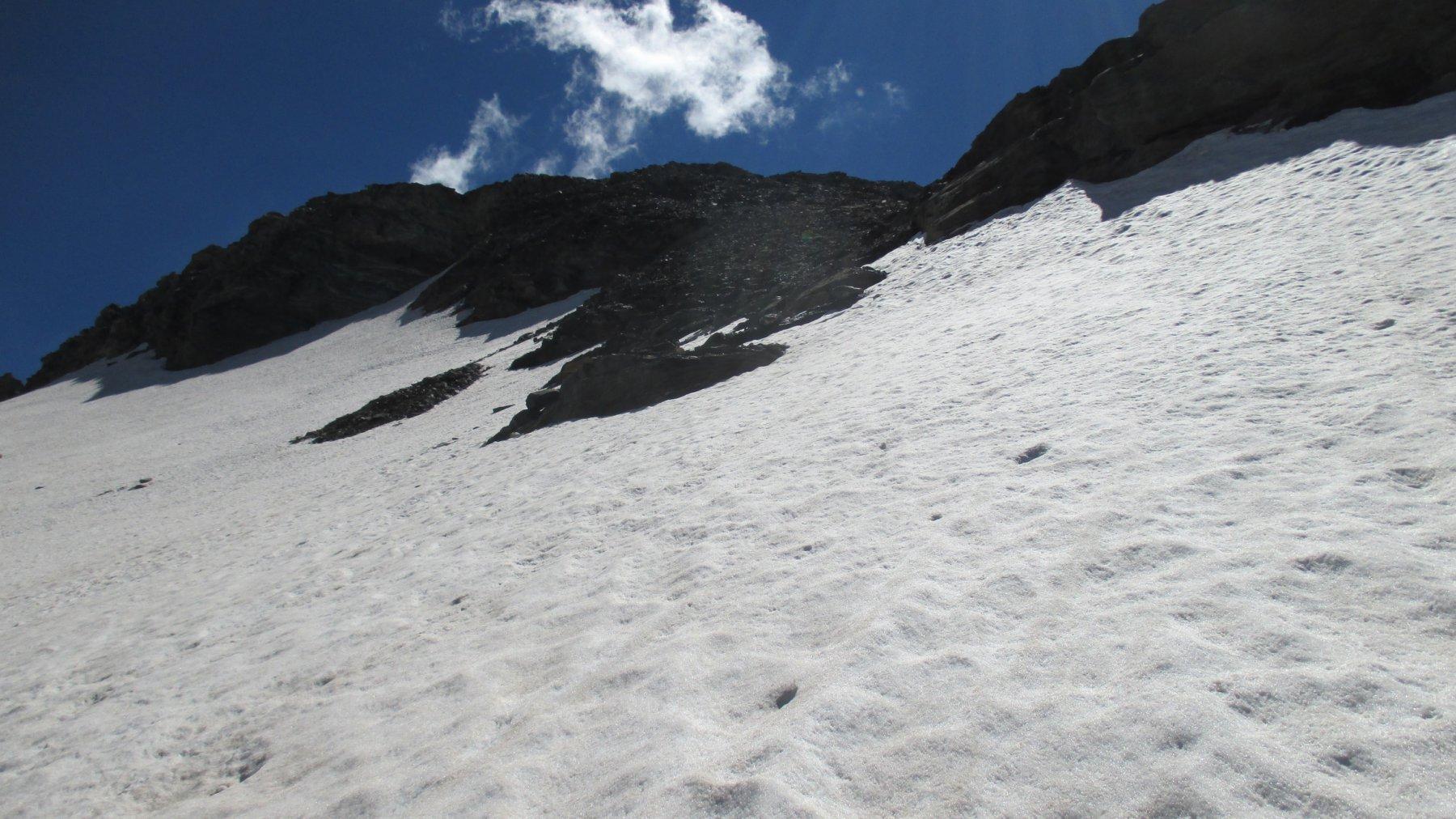 L'attacco del sentiero dopo il ghiacciaio