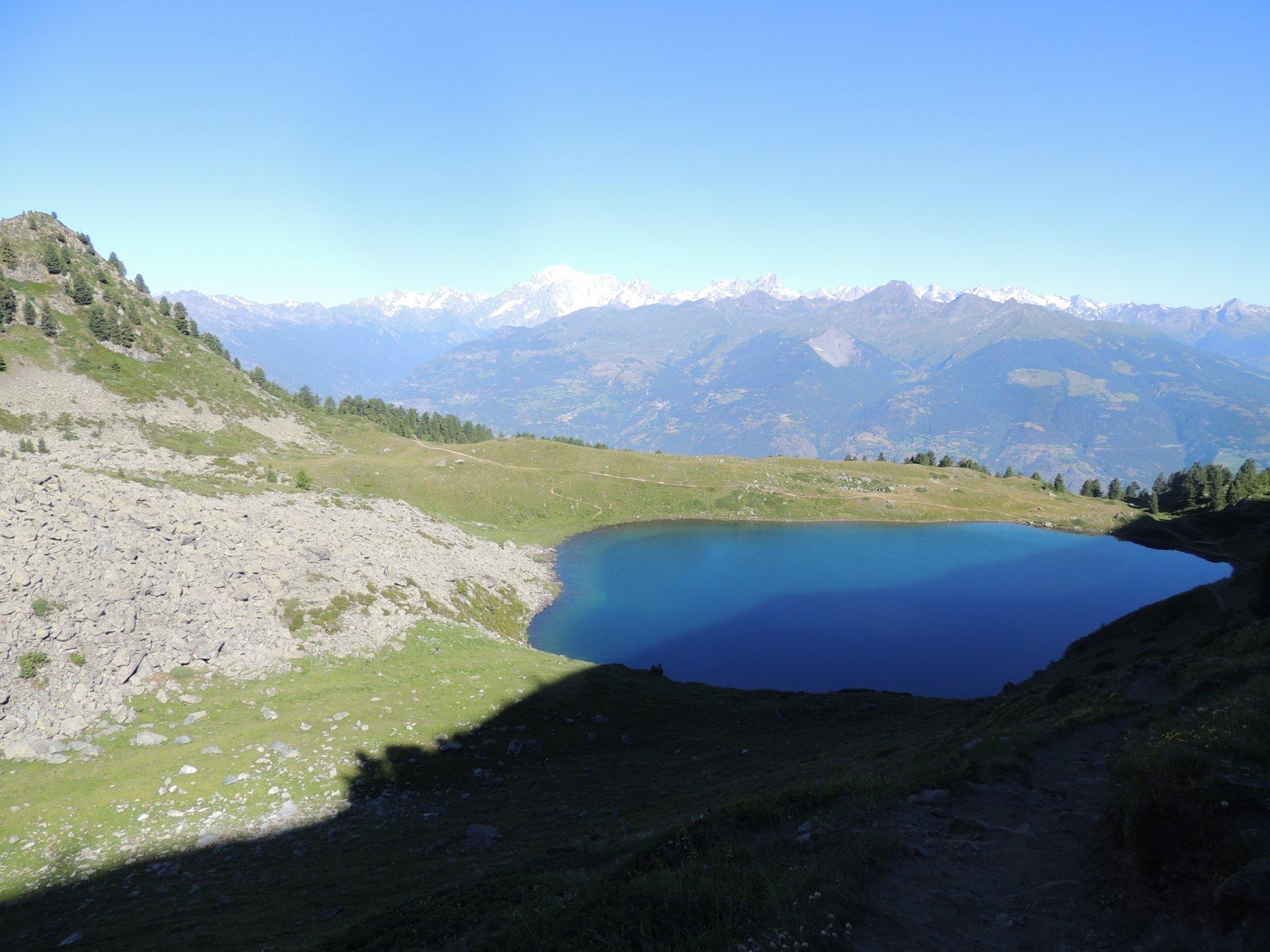 il lago dal colle