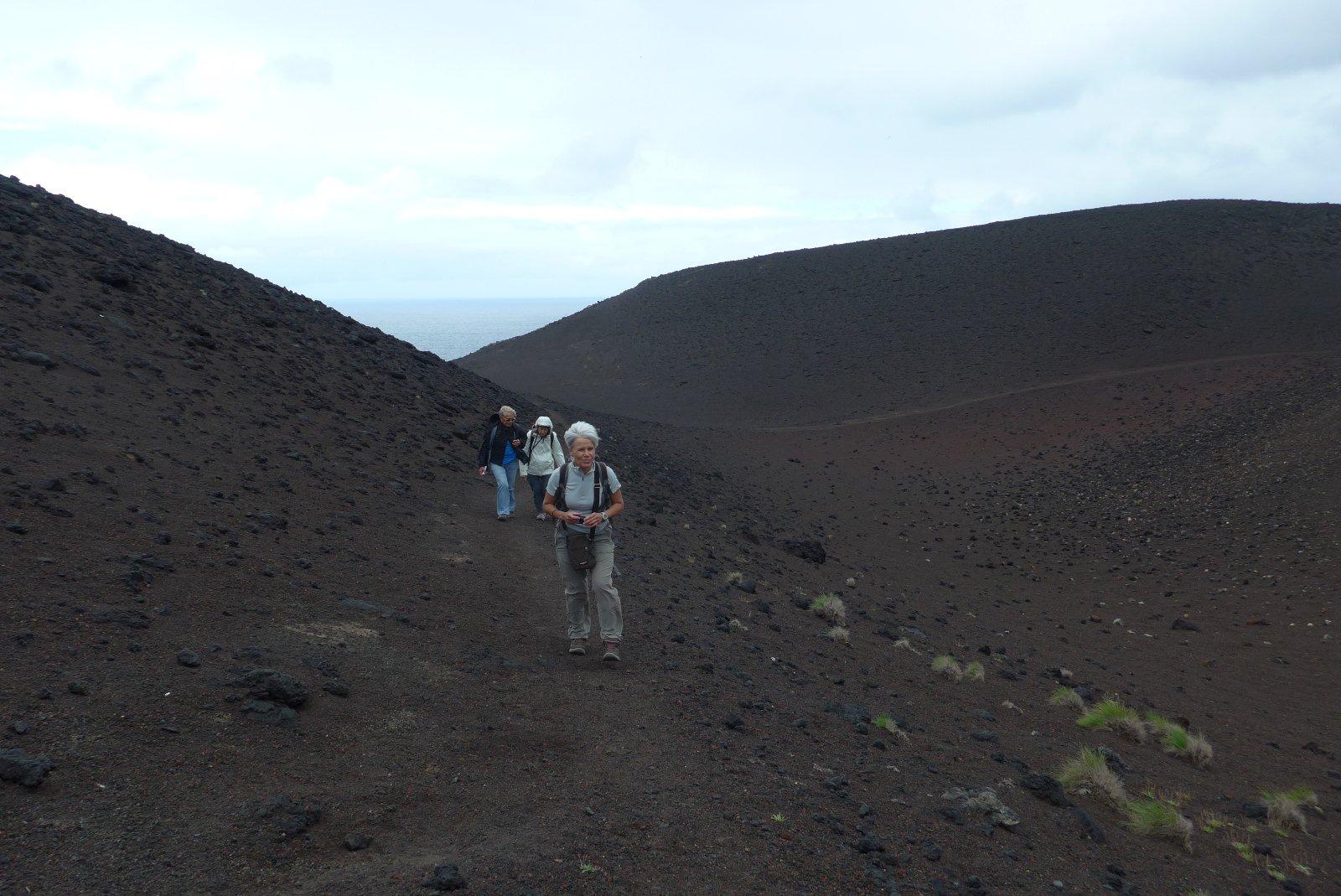 Sentiero nella lava