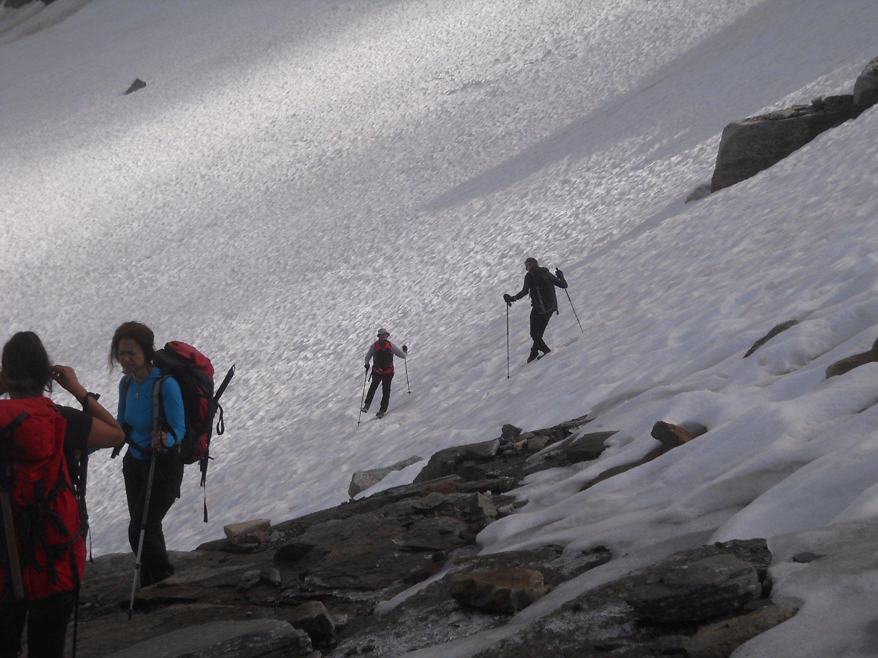 variante in discesa sul nivo-ghiacciaio