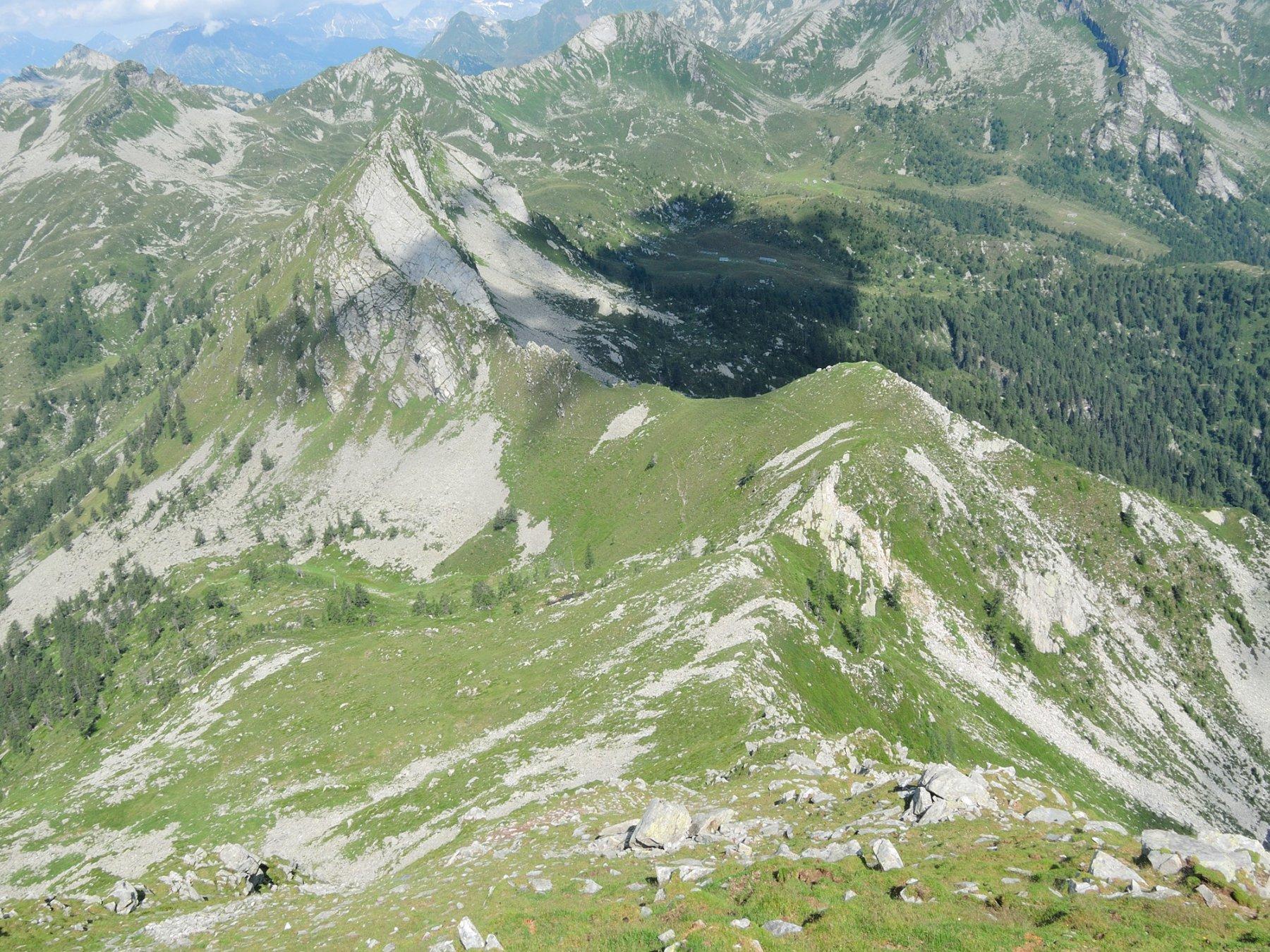 Cresta Nord-Ovest vista dalla cima