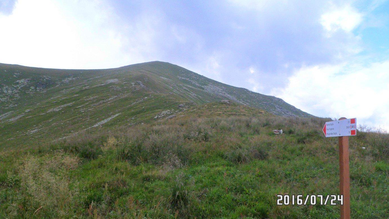 Il percorso segue quasi fino in cima la cresta