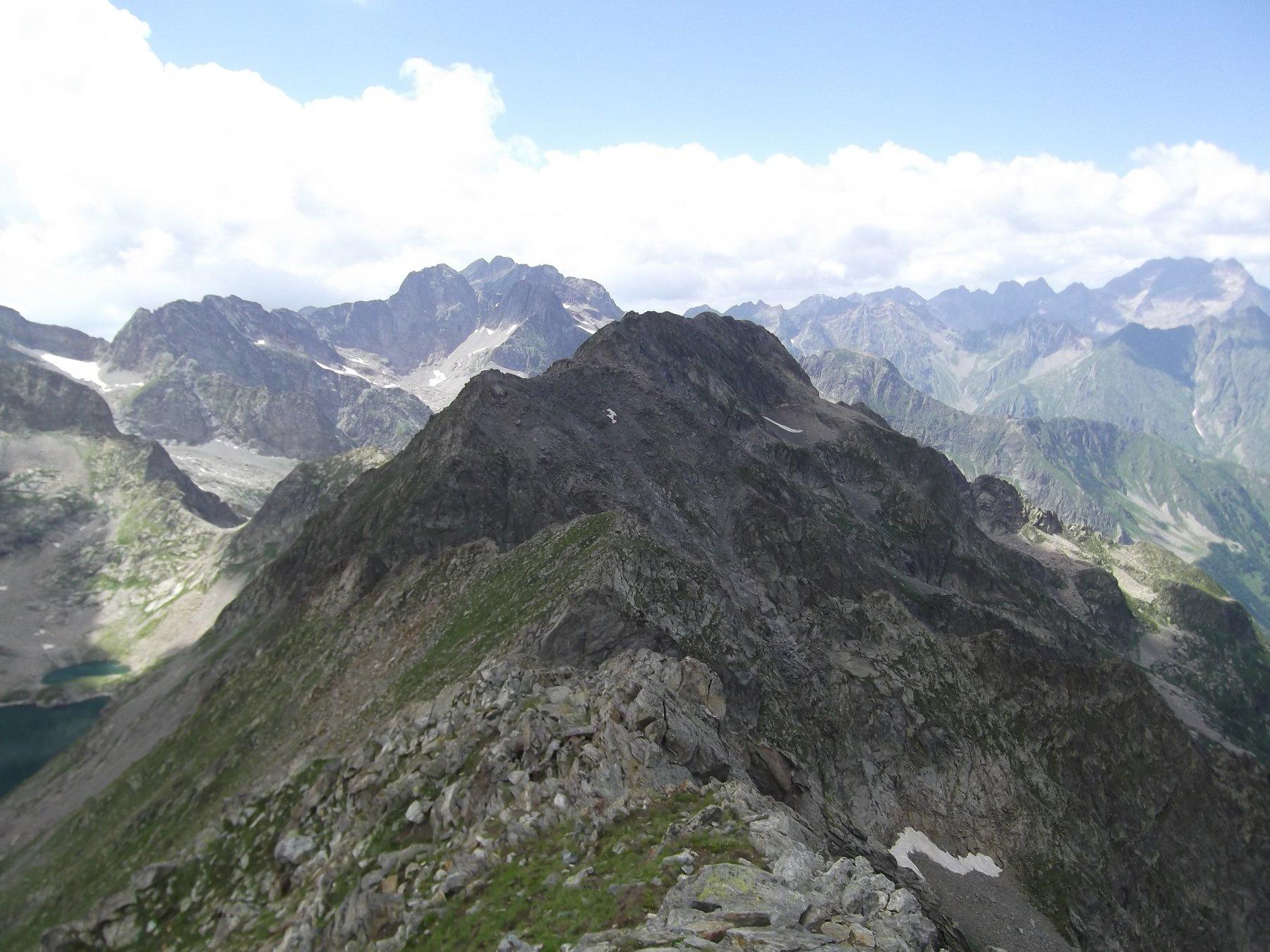 La cresta percorsa dalla Cima di Vernasca.