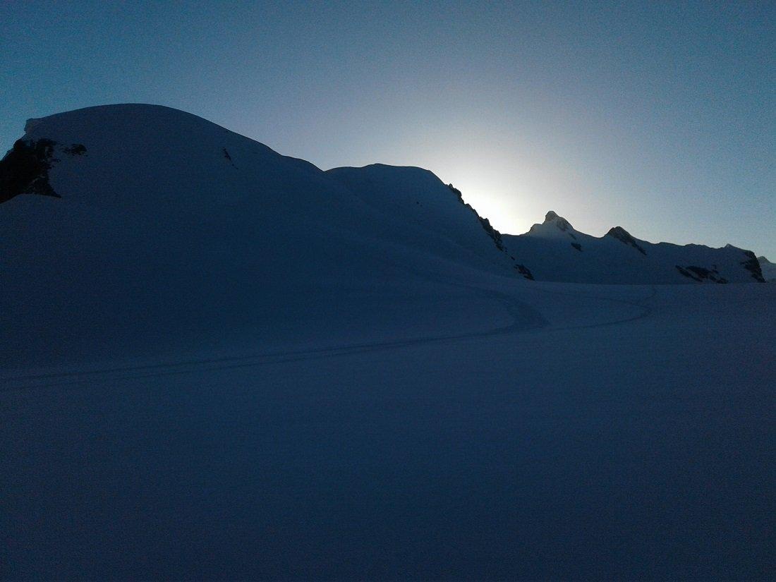 Il gruppo dei Breithorn all'alba