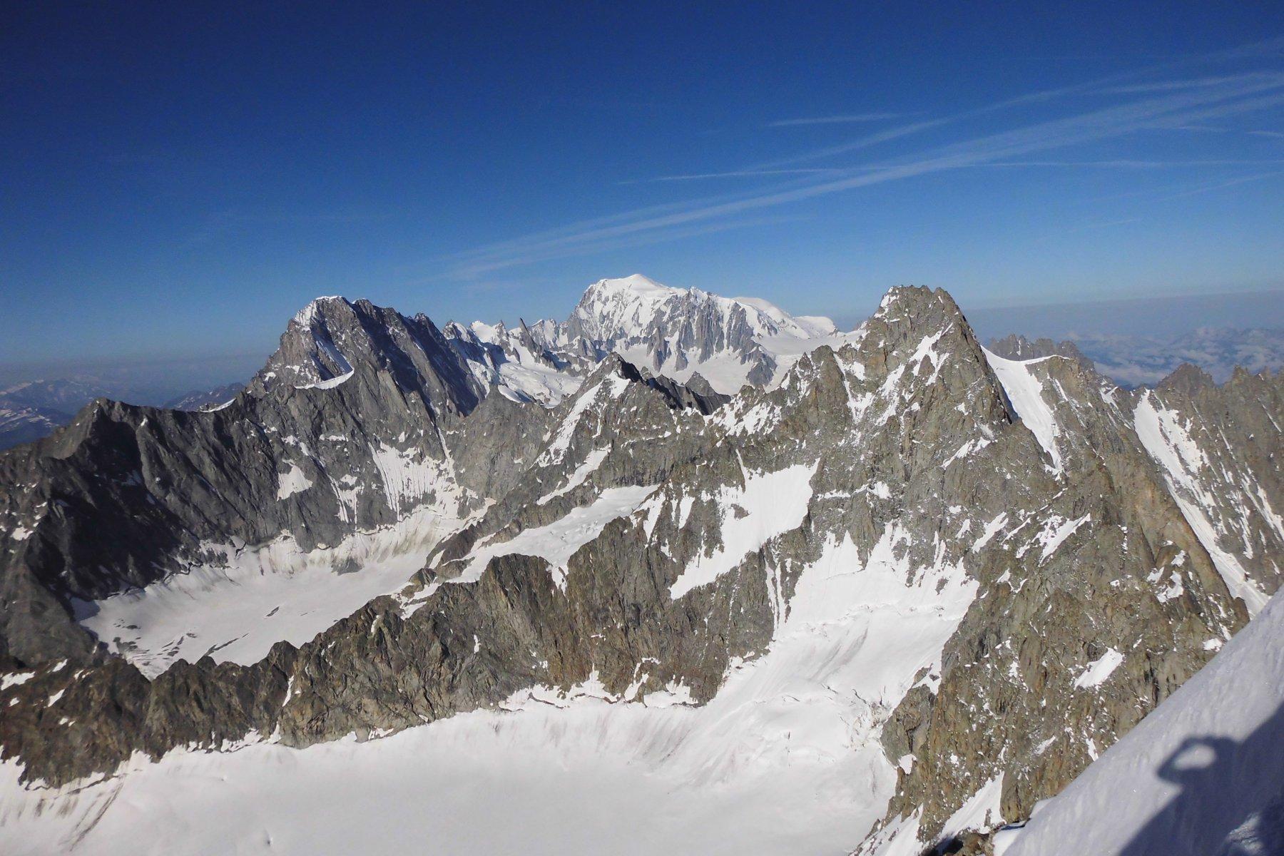 Panorama dalla vetta verso Monte Bianco