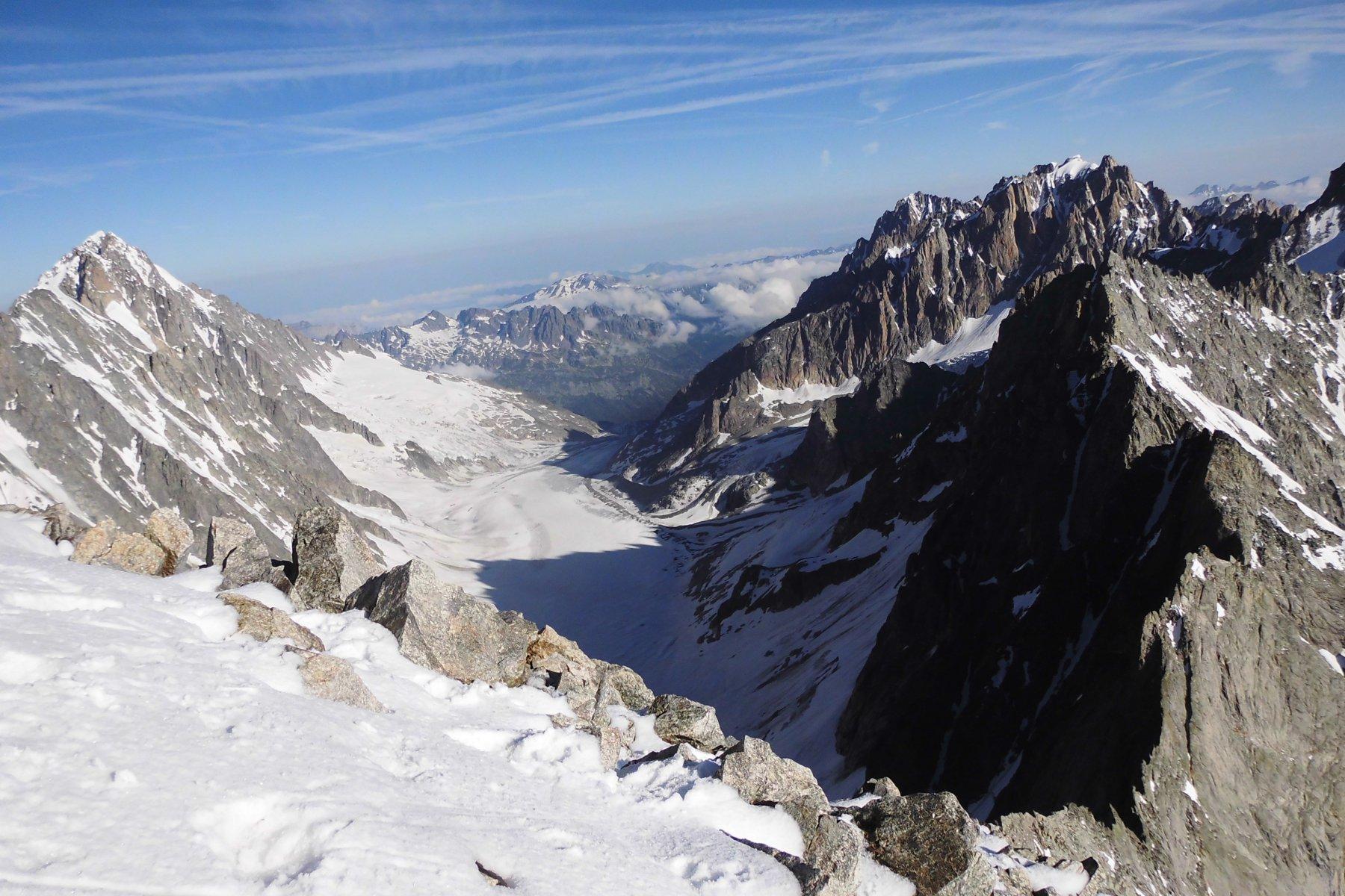 Panorama dalla vetta verso Argentiere