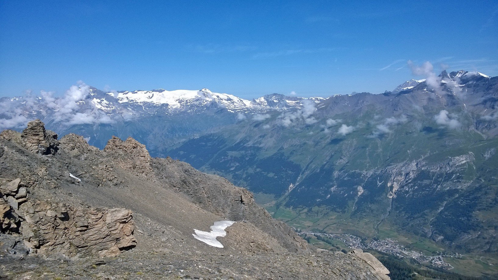 Dalla cima vista su Lanslebourg