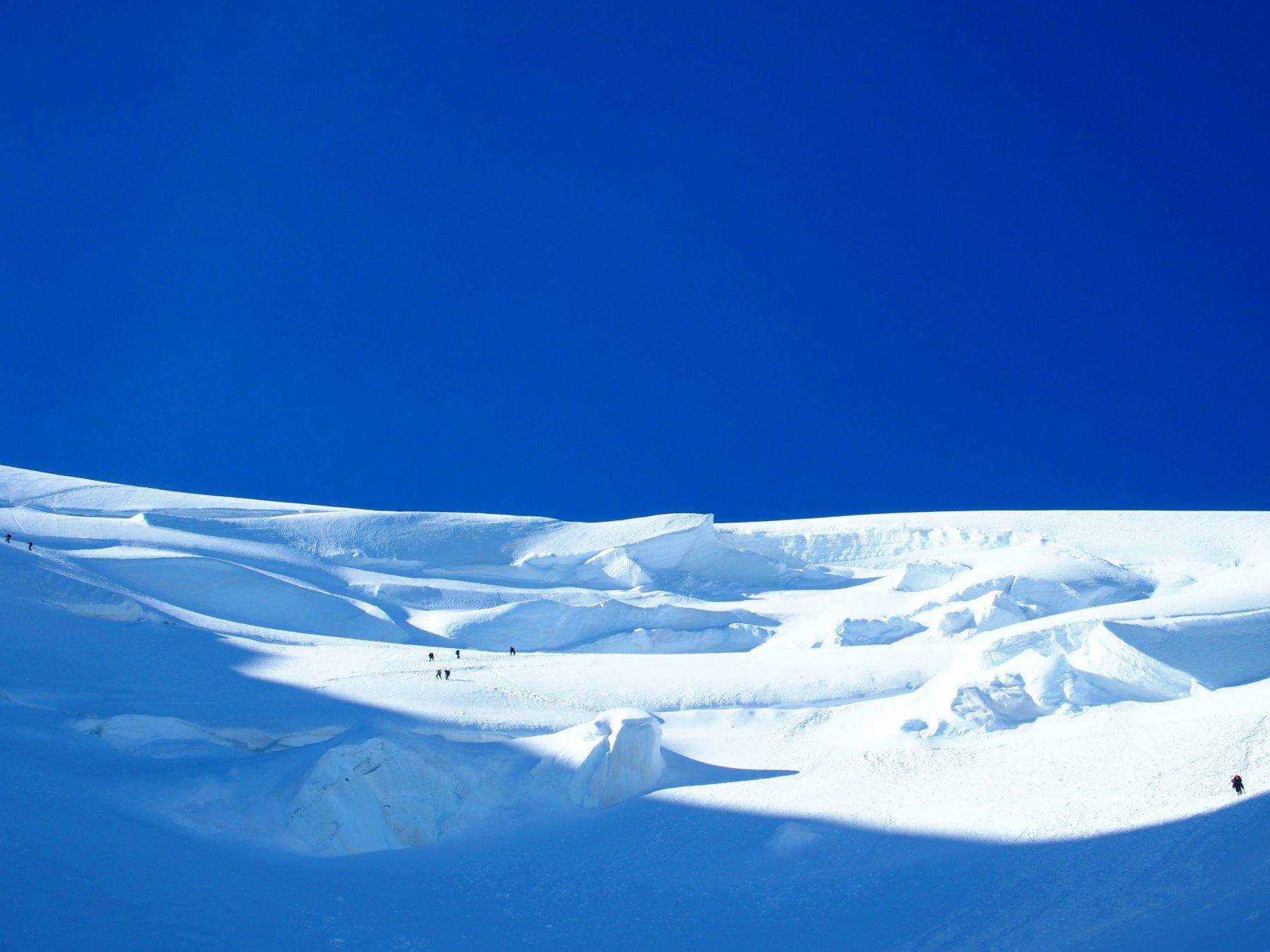 pendio del Mont Blanc du Tacul