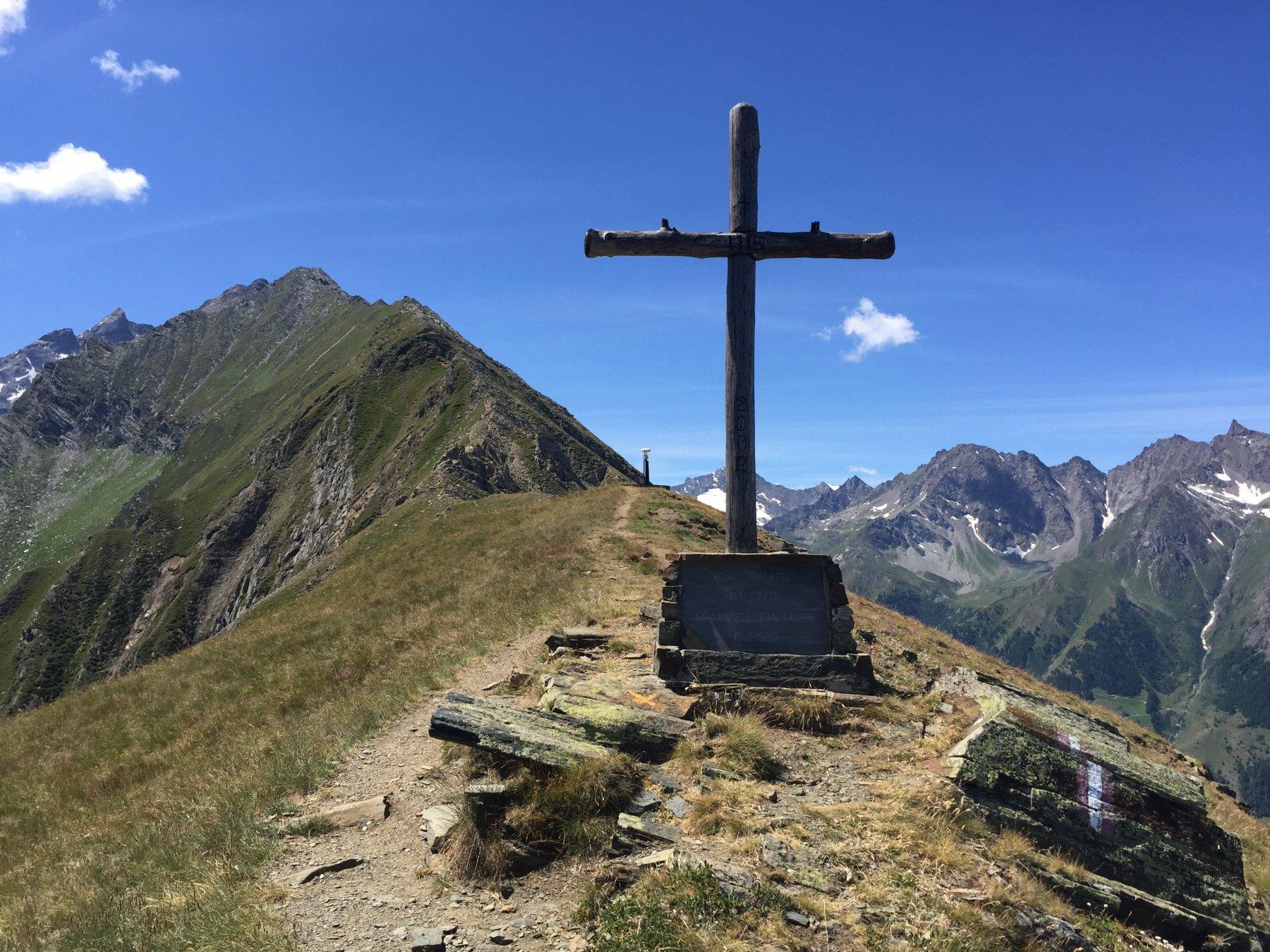 In cima al mont Paillasse