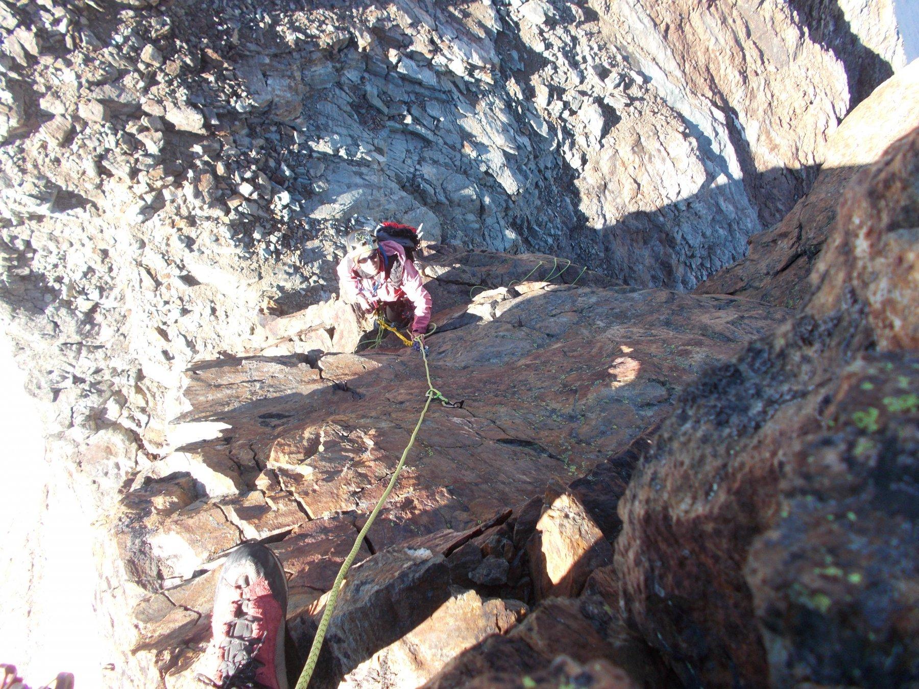 seconda fase..con arrampicata esposta..