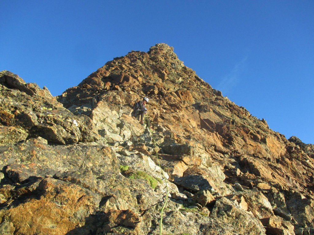 Primo sole sulla cresta della Fontanella