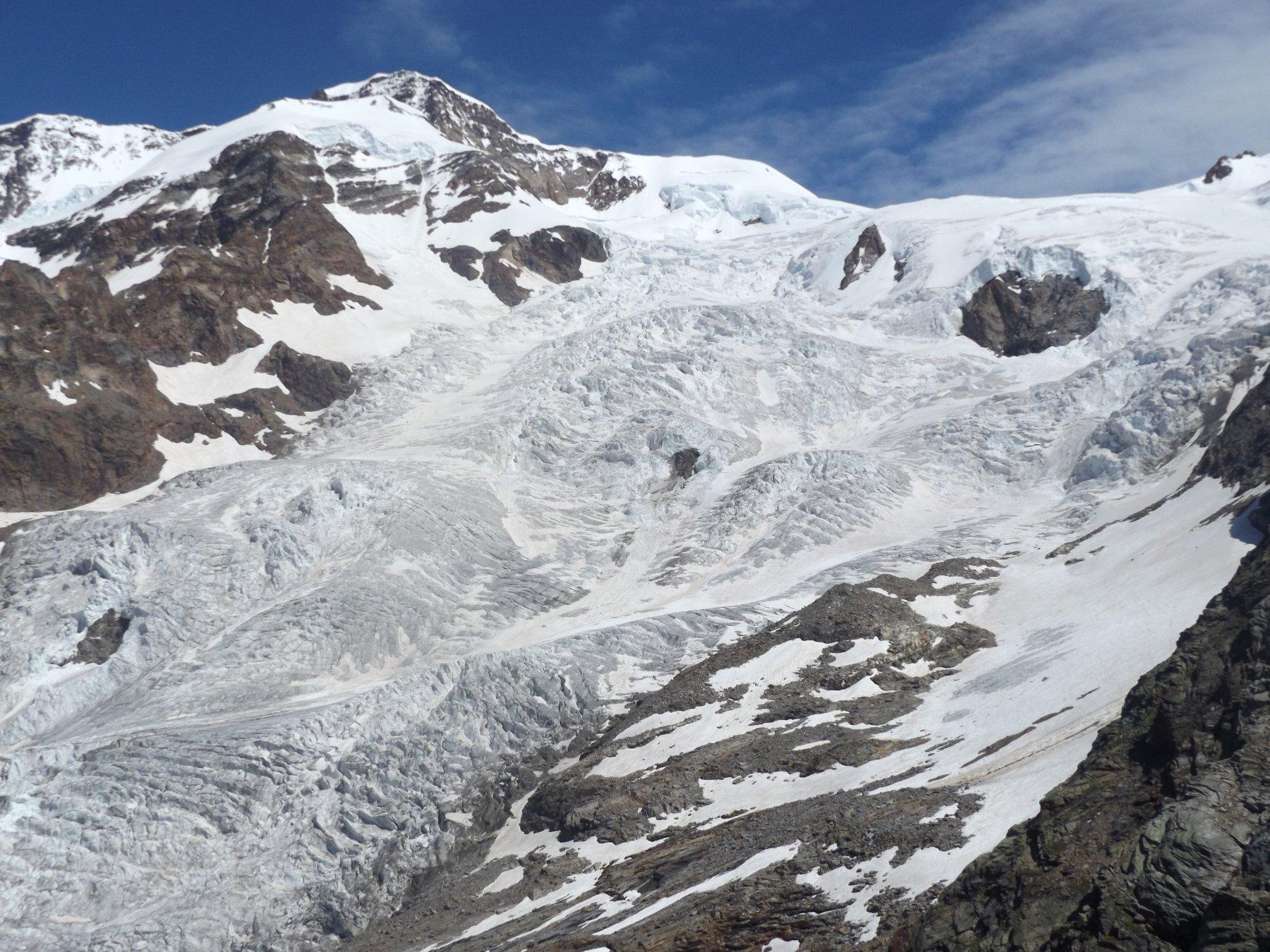 Cresta de Lyskman e ghiacciaio