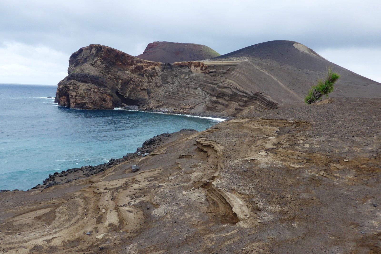 La zona creata dall'eruzione del vulcano