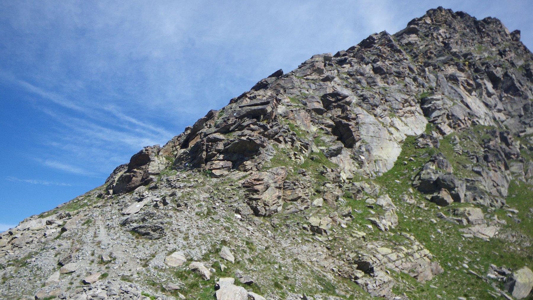 la cresta sud-est  ee/f- della Founset dal colle Cialancia
