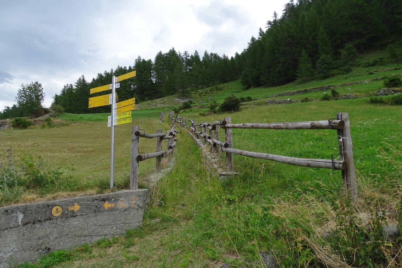 inizio sentiero a Planté