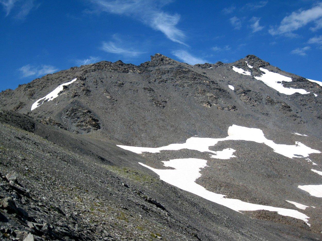 Gardiola o Gardiora (Cima) dalla Diga di Rochemolles per il Colle della Pelouse 2016-07-30