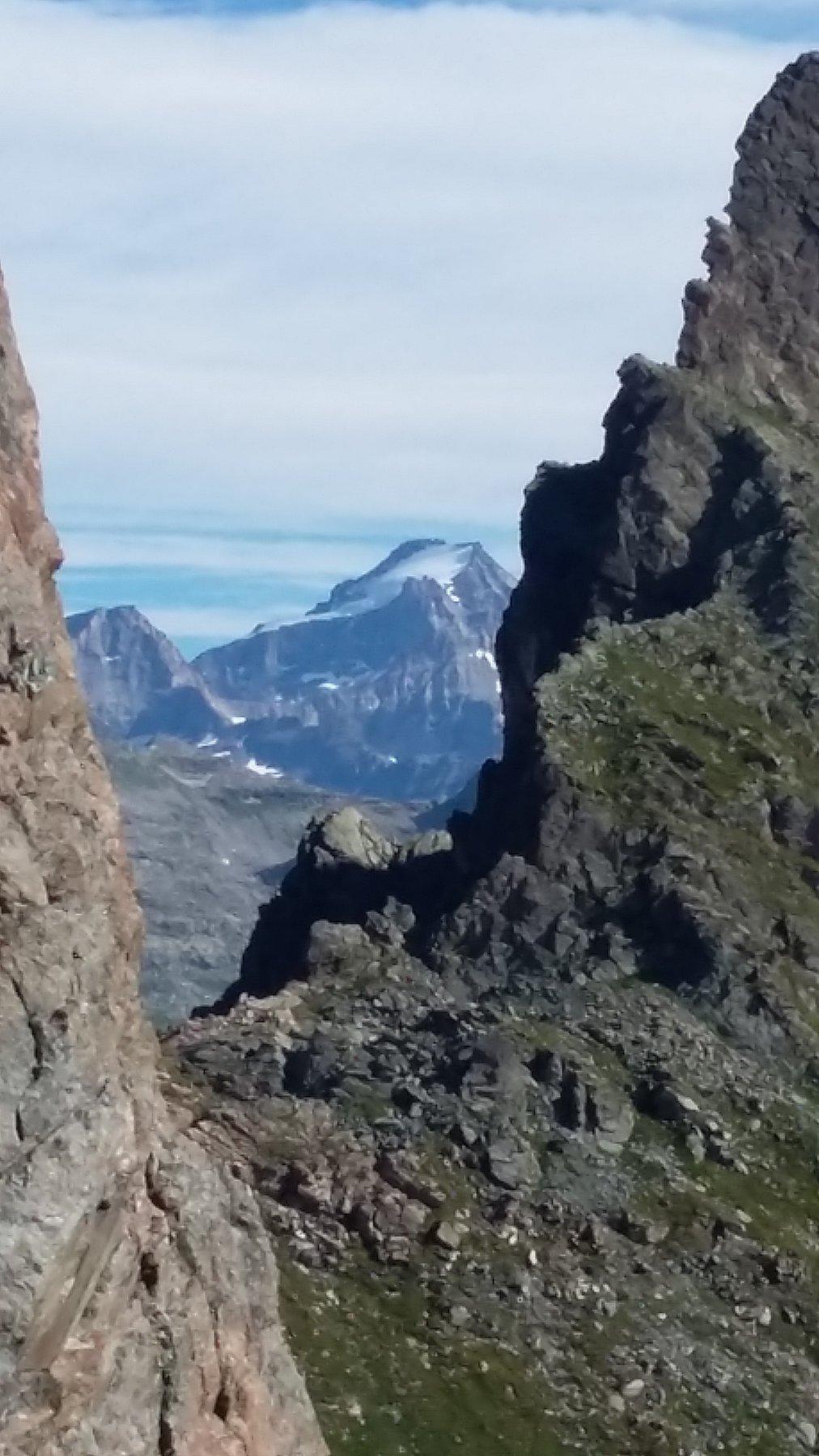 Vista sul Granpa, dall'attacco della via