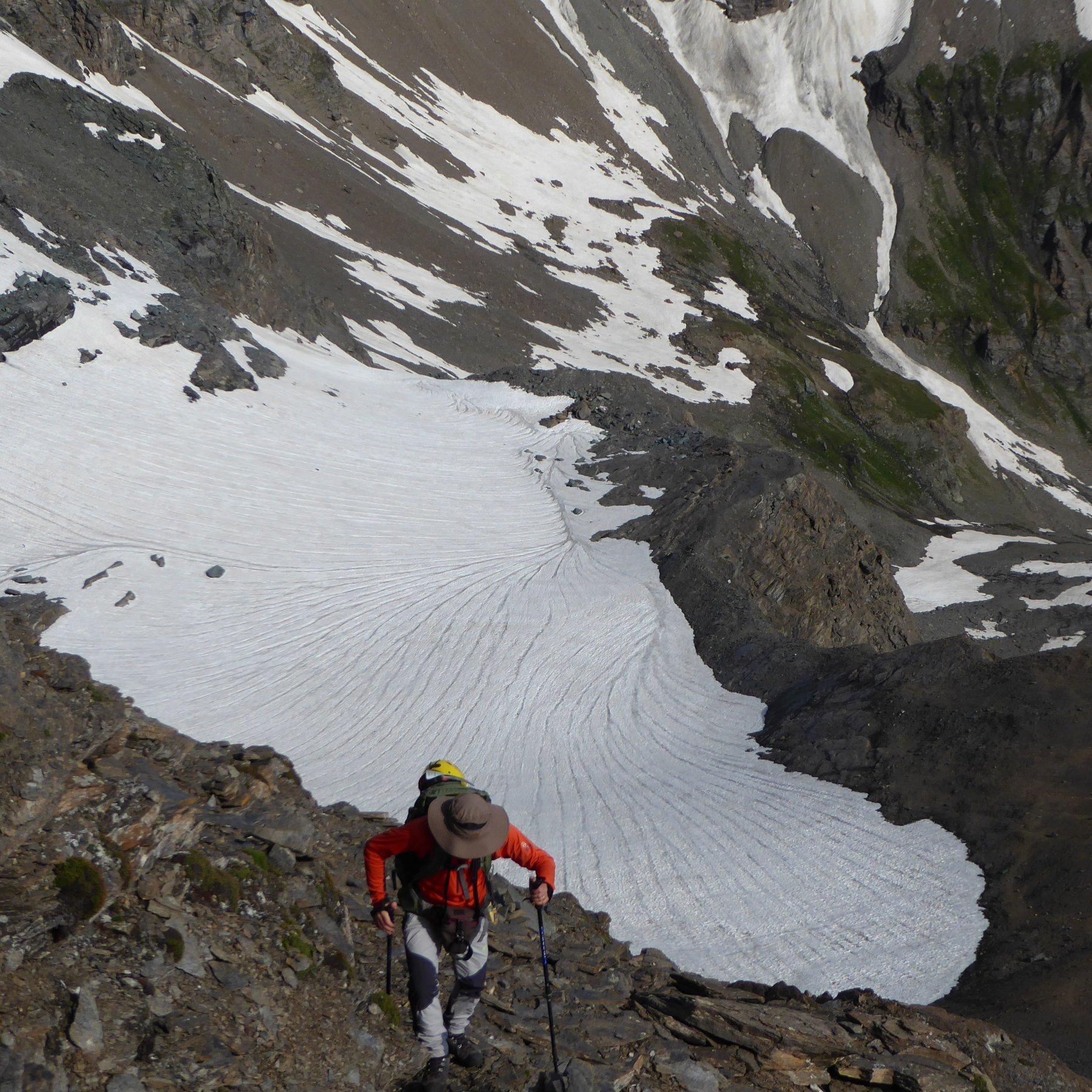 ghiacciaio della Losa salendo alla Cima della Vacca
