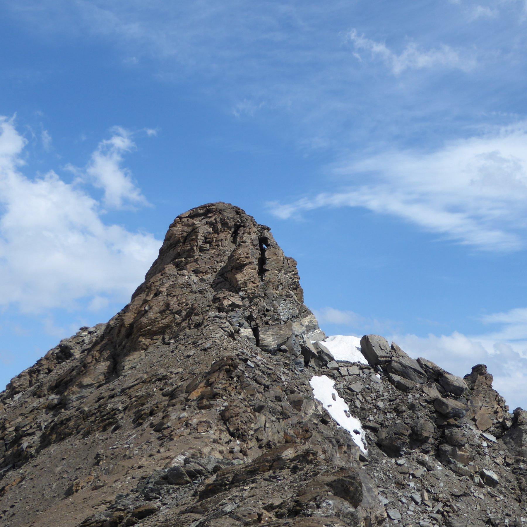 Cima della Vacca dal colletto (3127 m) prima dell'Oin
