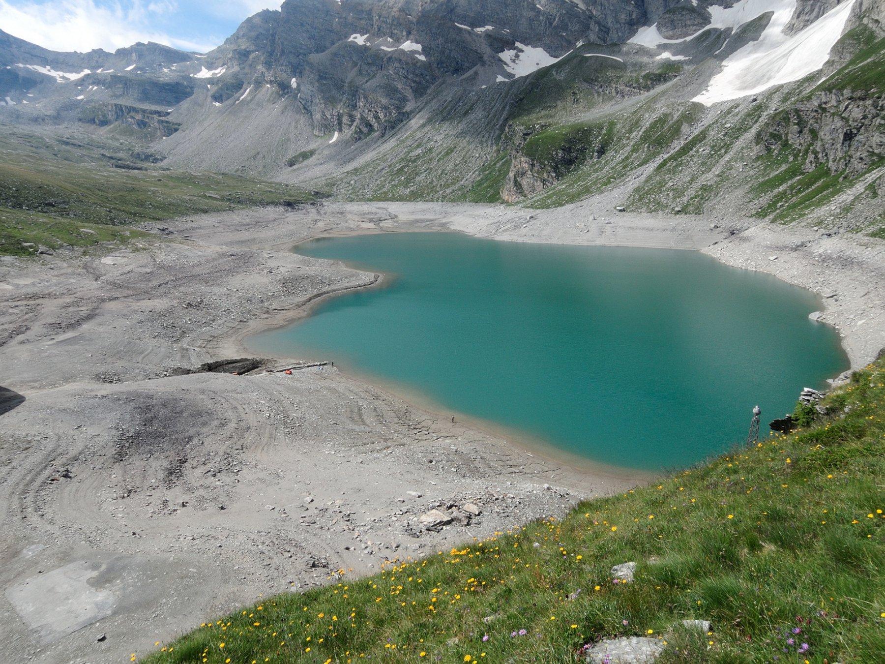 Lago d'Avino semivuoto
