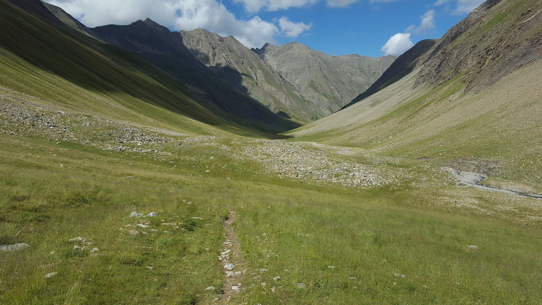 In discesa nel vallone di Parpaillon