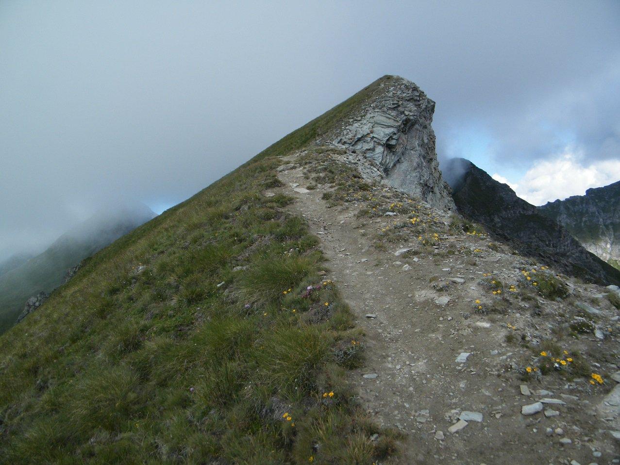 Gli ultimi metri prima della cima.