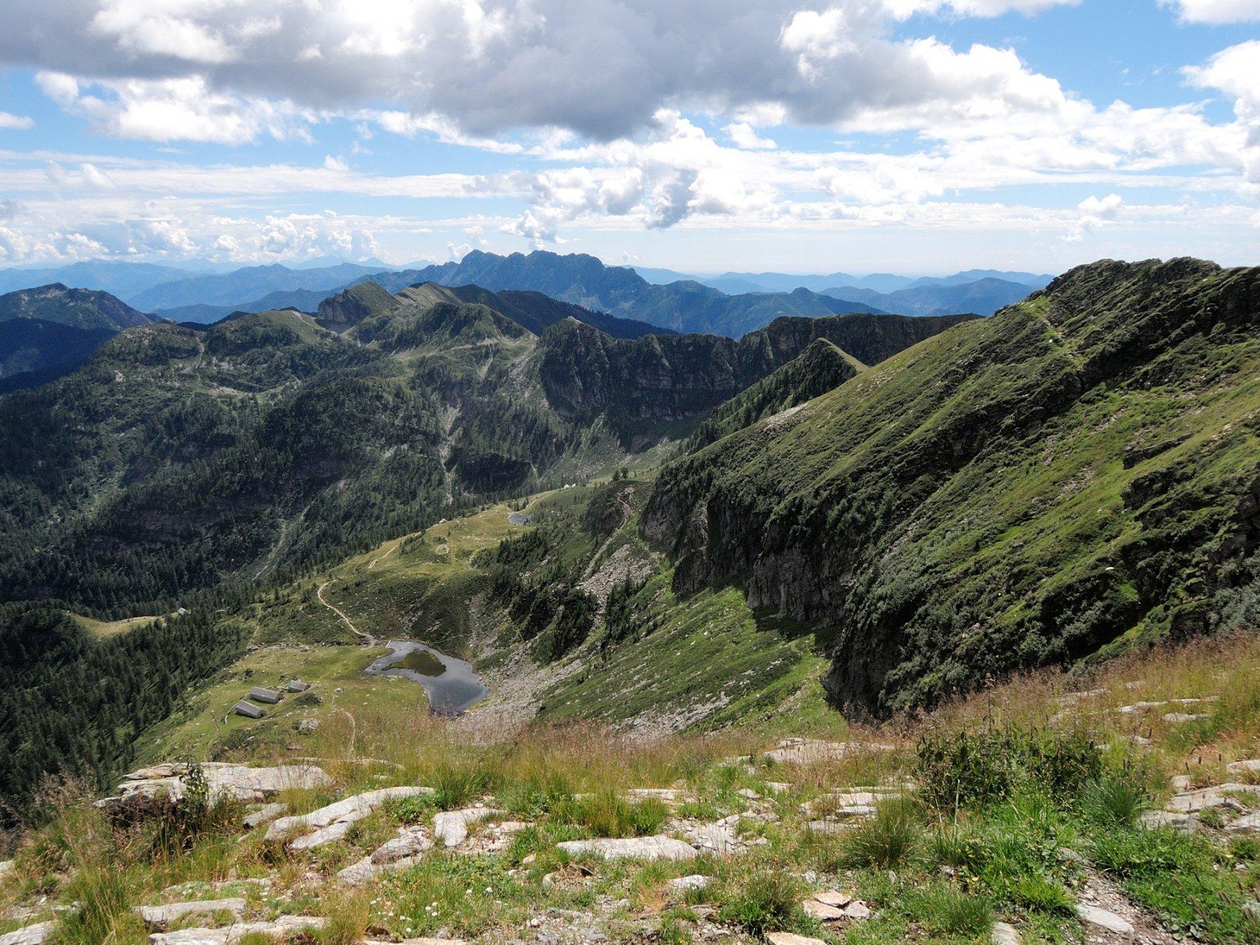 Alpe Ruggia e versante Onsernone