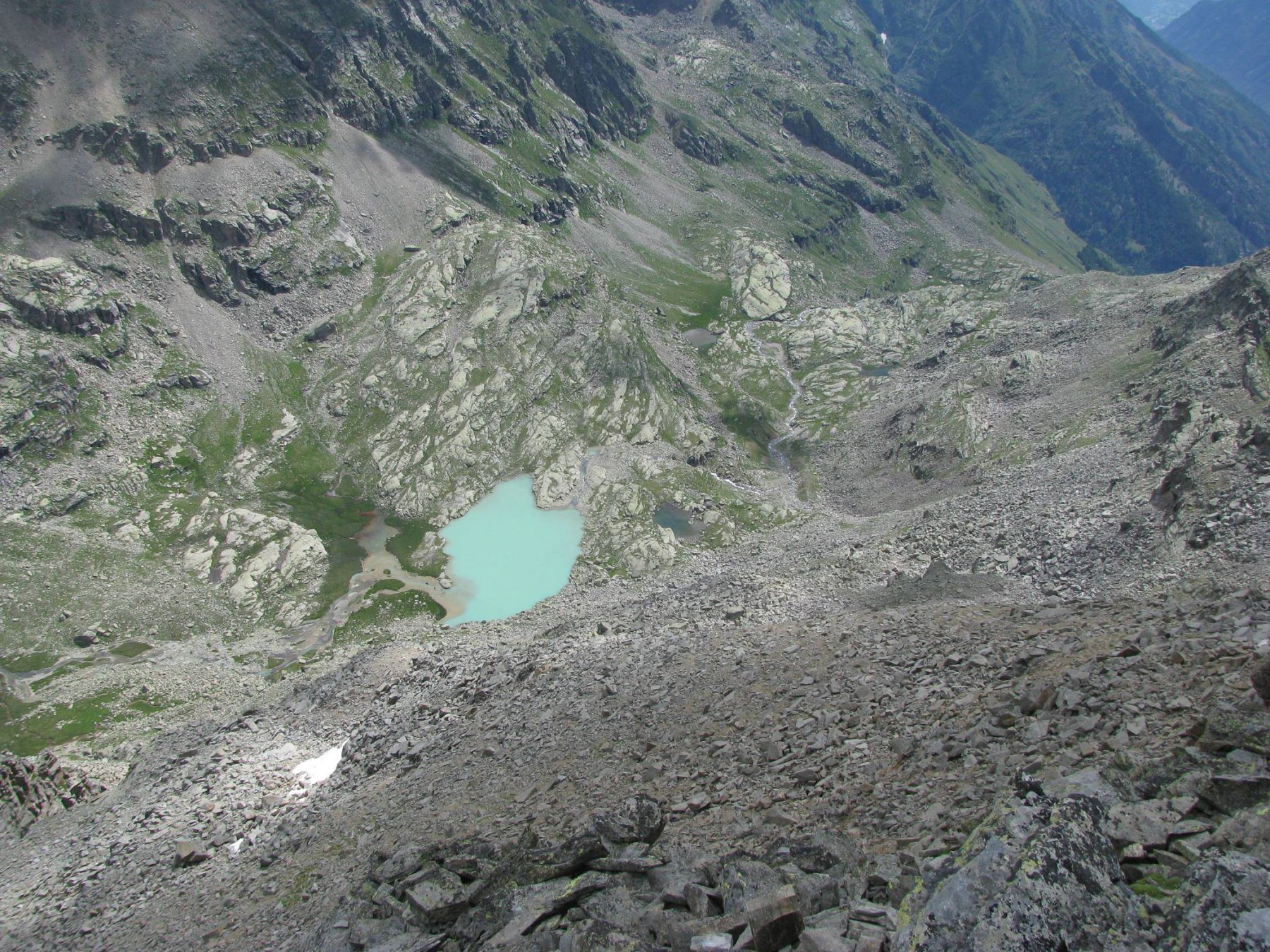 Vista sul Vallone di Ciamousseretto