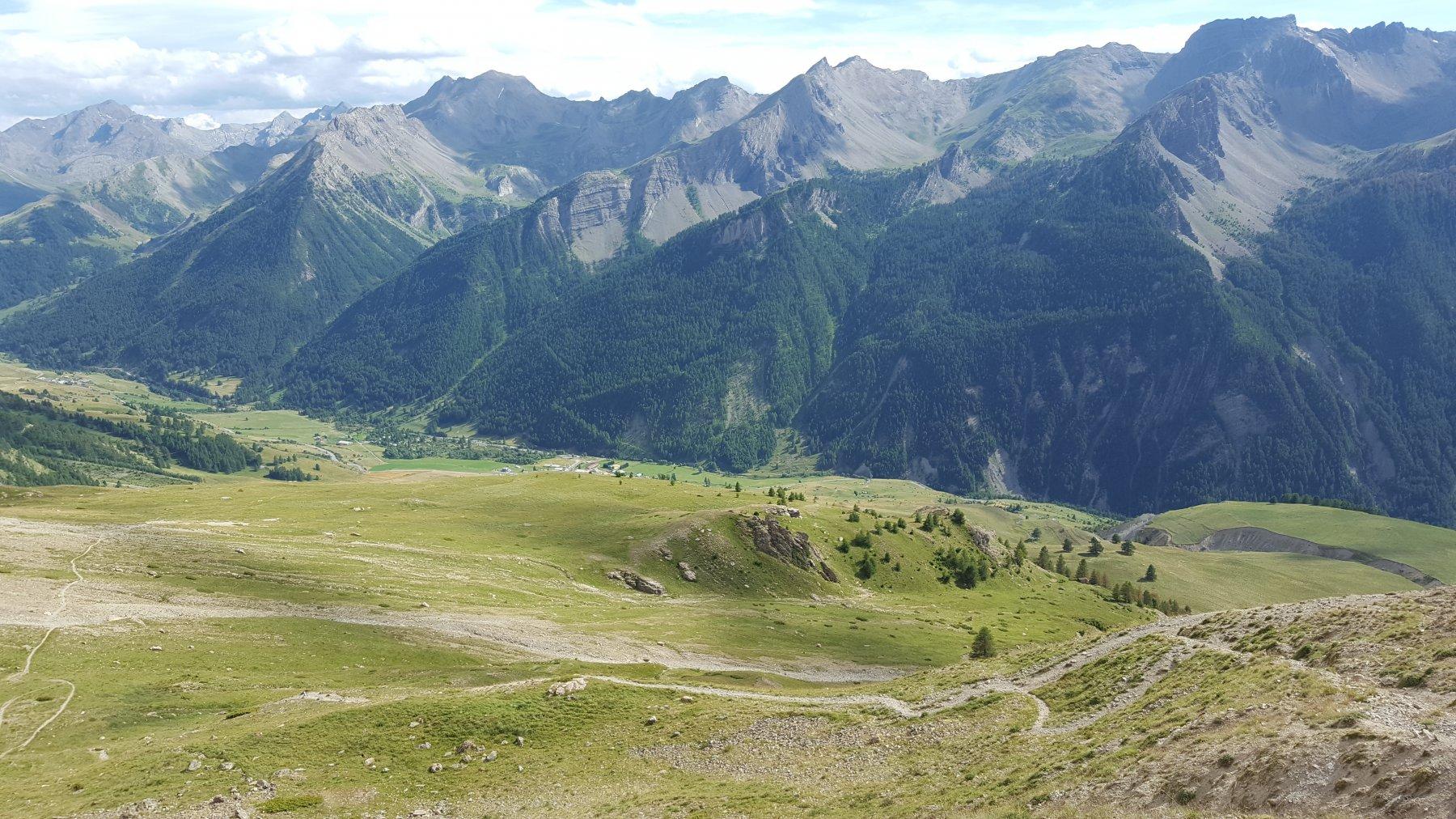 La discesa dal Col de Mallemort