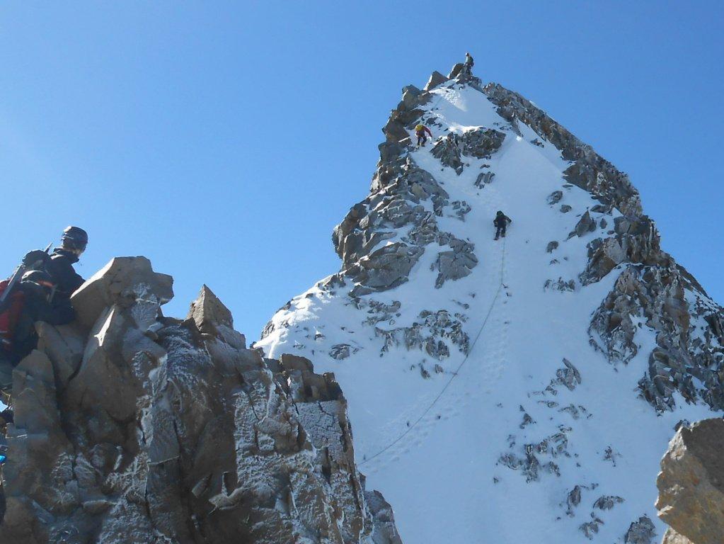 gli ultimi metri verso la vetta svizzera..