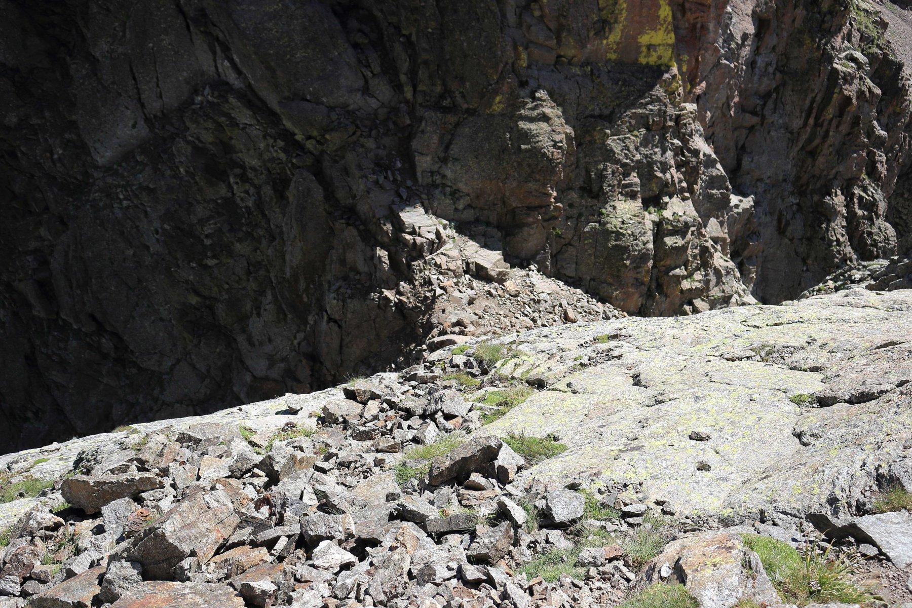 Lo stretto passo della marmotta visto dall'alto.